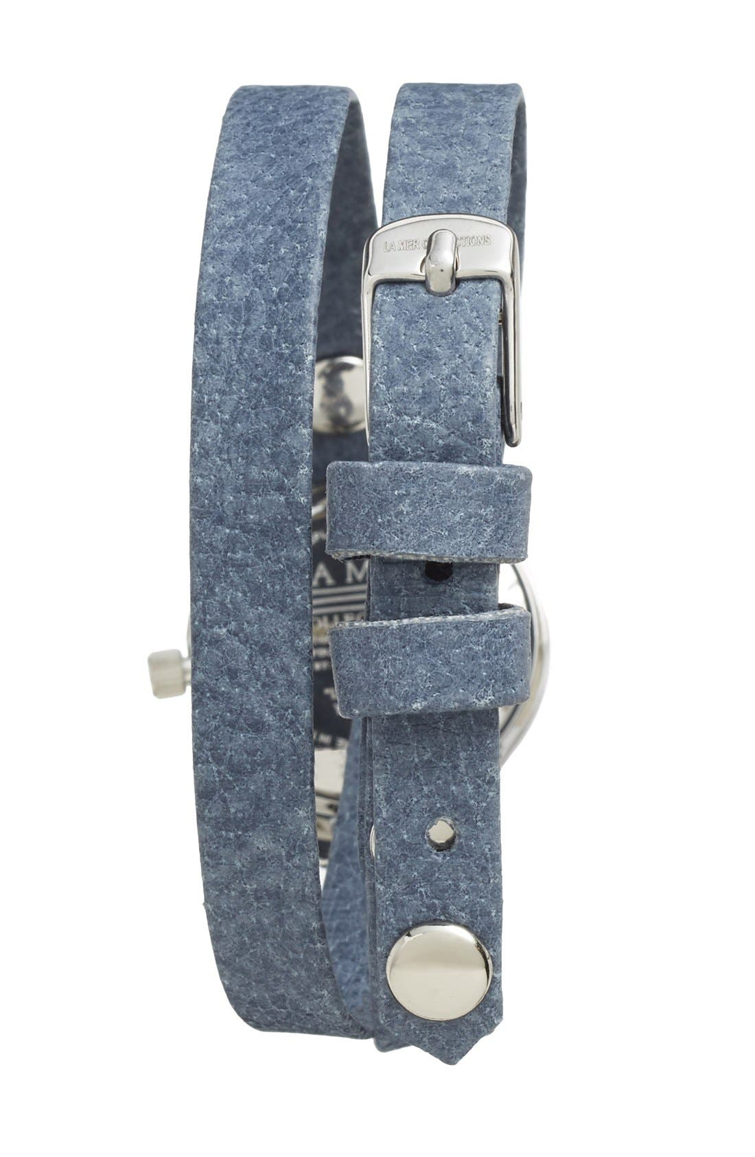 Alternate Image 2  - La Mer Collections 'Del Mar' Leather Strap Wrap Watch, 25mm