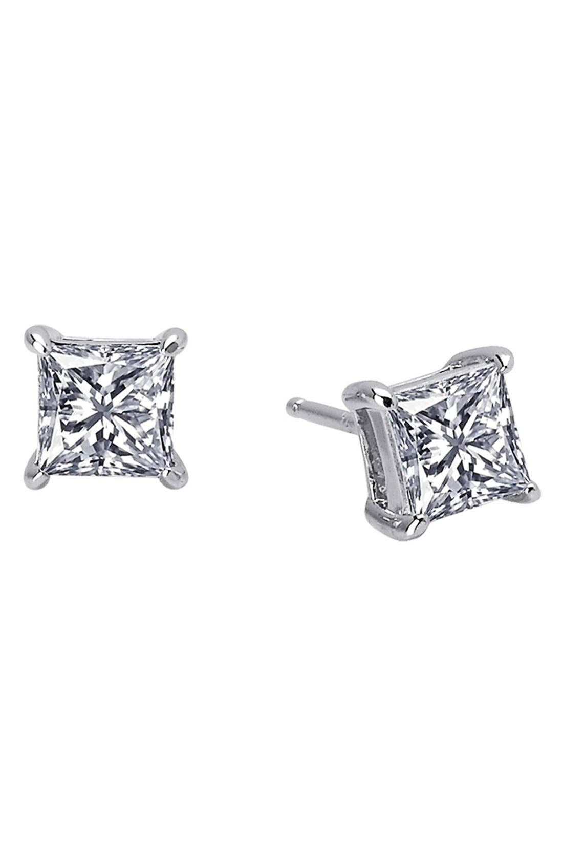 Lafonn 'Lassaire' Princess Cut Stud Earrings