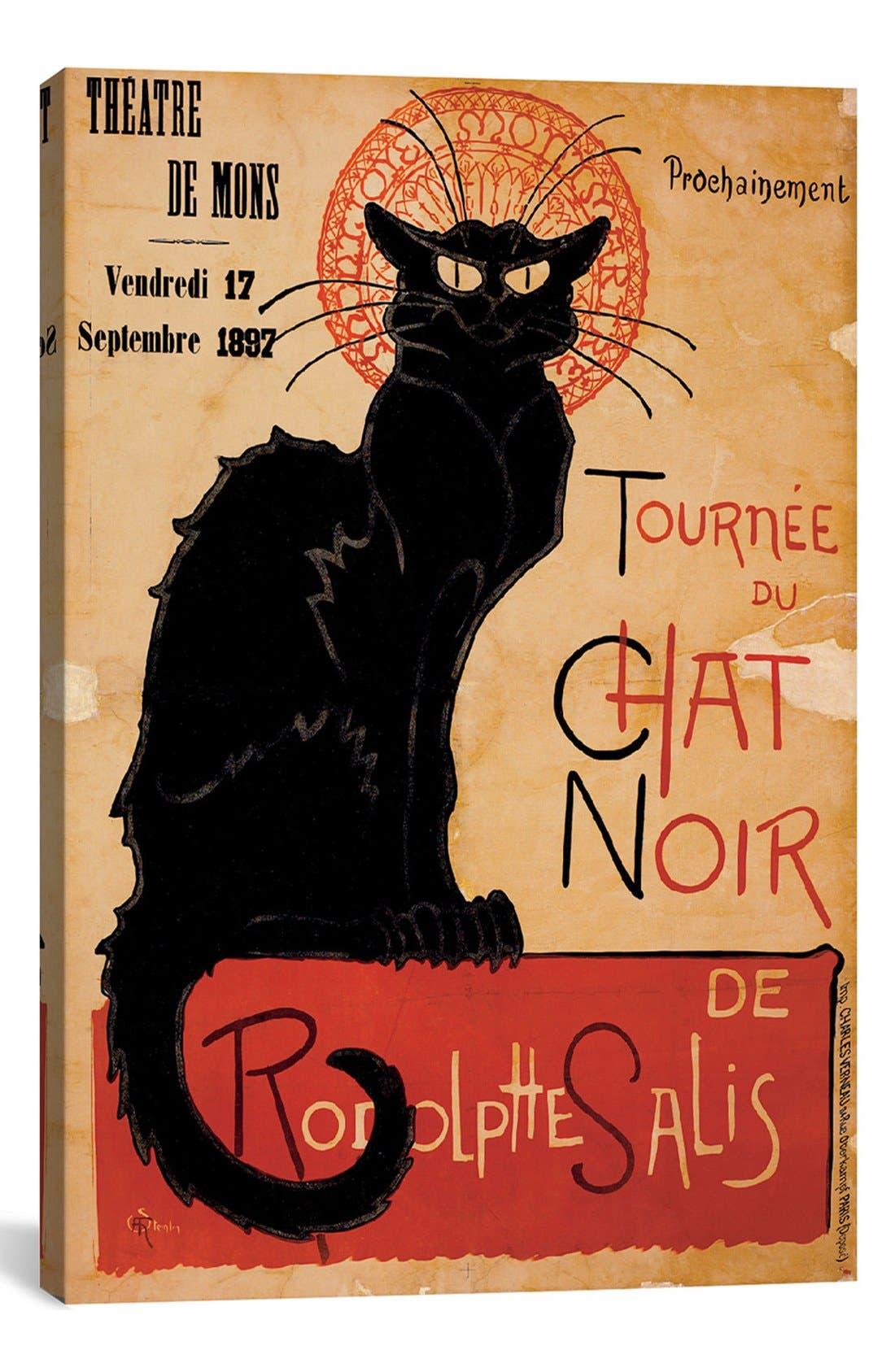 ICANVAS 'Tournée du Chat Noir' Giclée Print Canvas