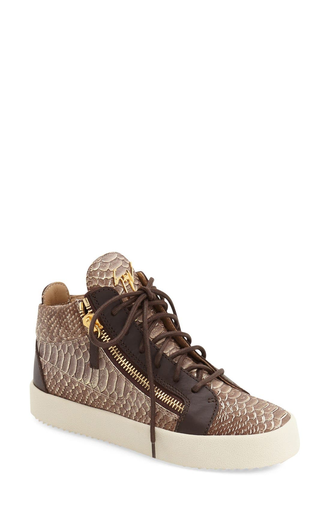 Giuseppe Zanotti 'May London' High Top Sneaker (Women)