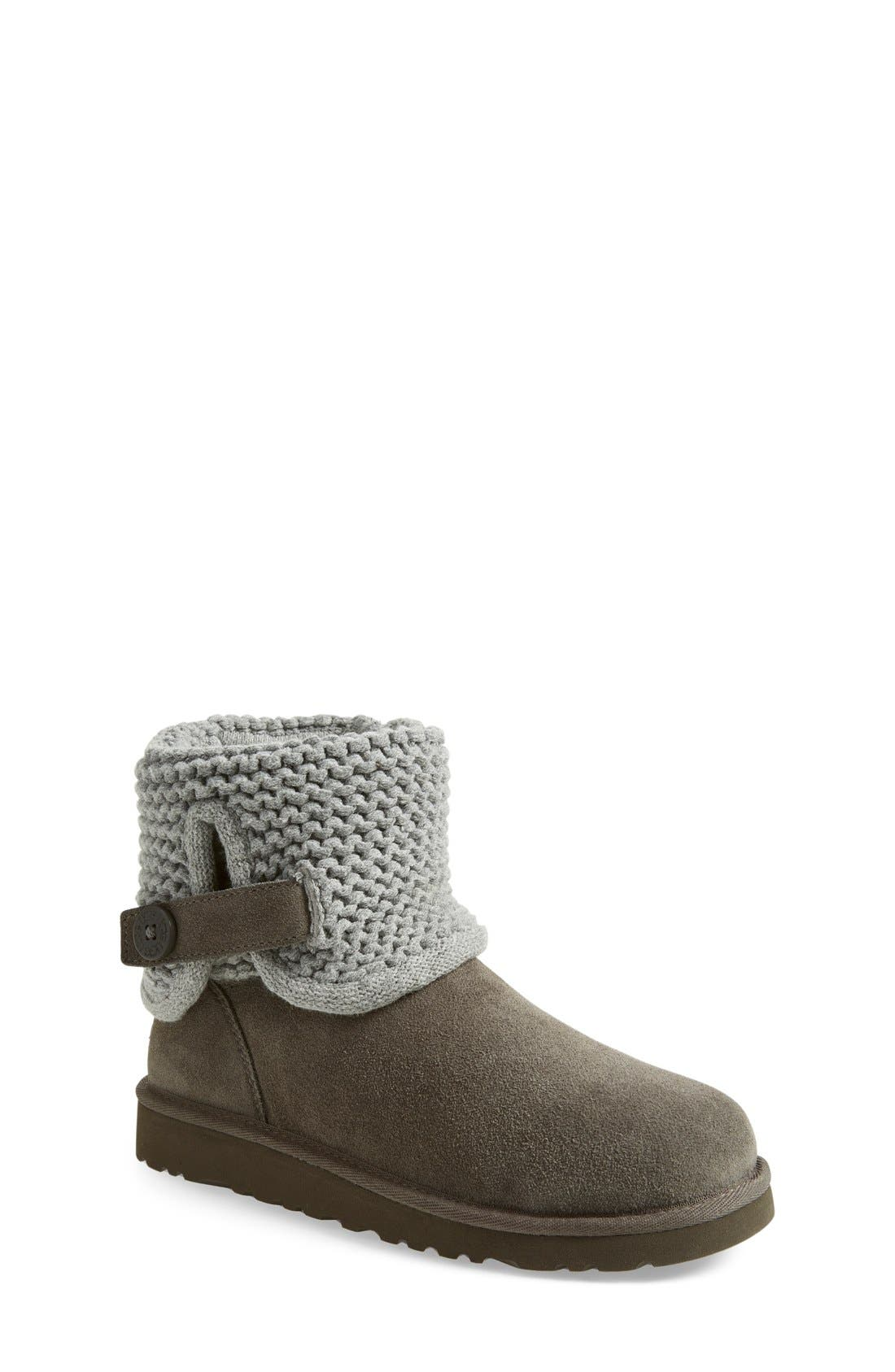 Alternate Image 1 Selected - UGG® Darrah Purl Knit Cuff Boot (Little Kid & Big Kid)