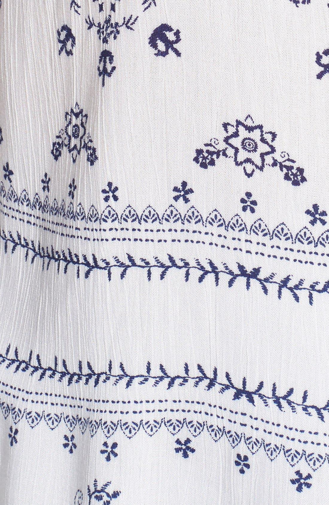 Alternate Image 5  - BP. Print Lace-Up Peasant Top