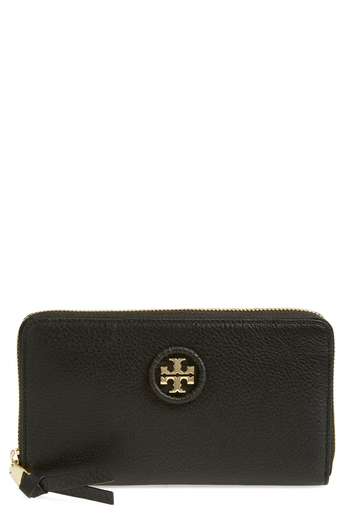 Alternate Image 1 Selected - Tory Burch Leather Zip Around Continental Wallet (Nordstrom Exclusive)