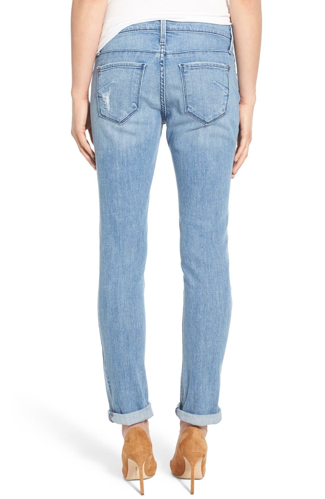 Alternate Image 2  - James Jeans Distressed Slim Boyfriend Jeans (Joy Ride)