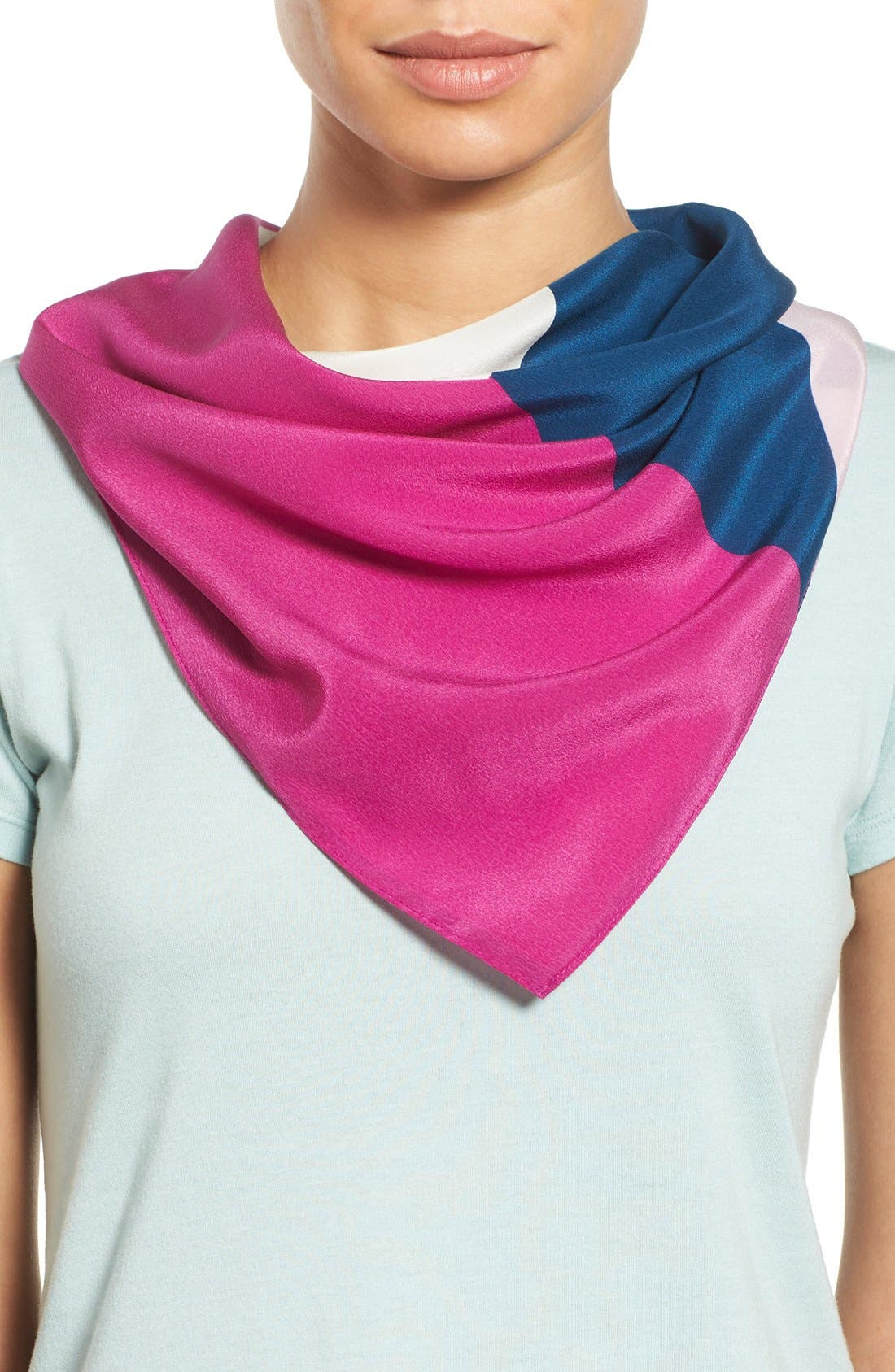 Main Image - Halogen® Abstract Colorblock Silk Scarf