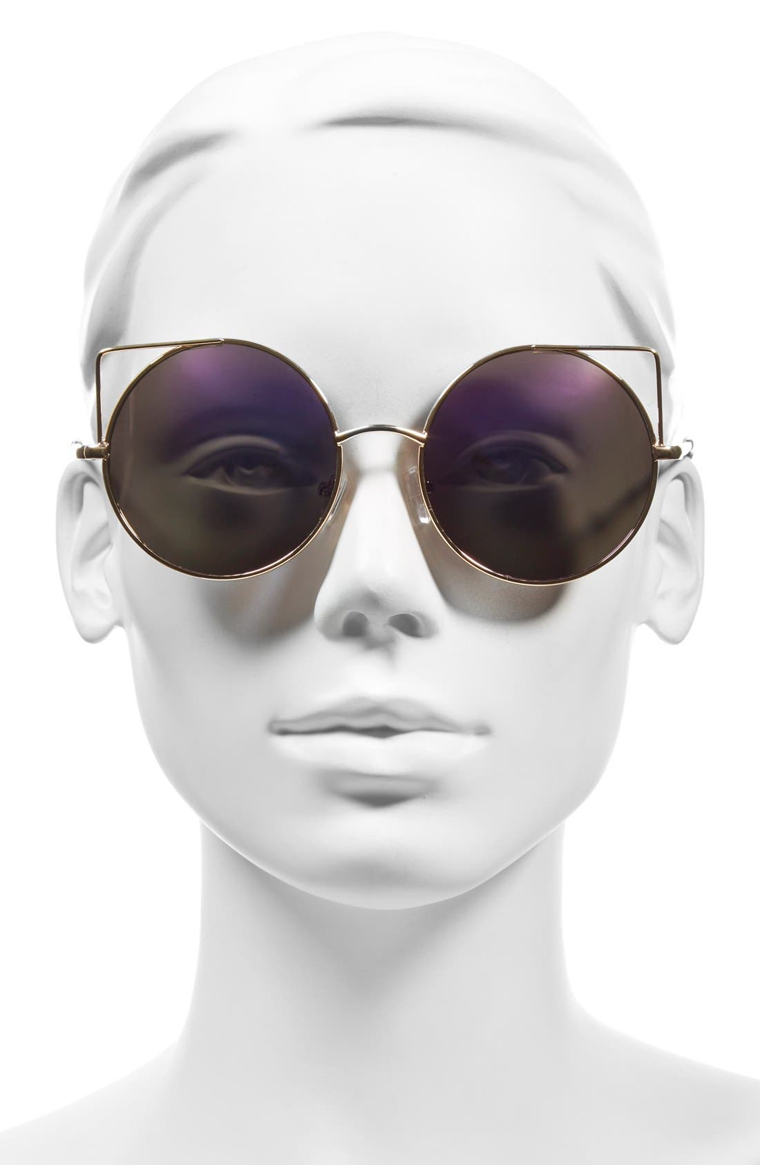 Alternate Image 2  - BP. 55mm Round Mirrored Lens Sunglasses