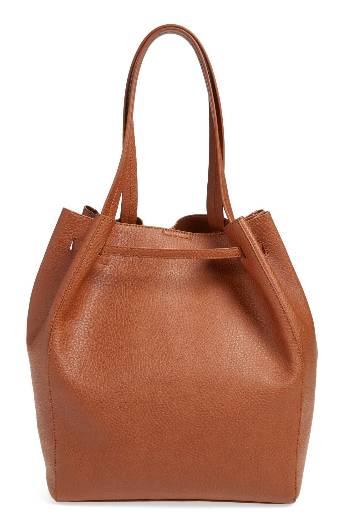 Alternate Image 3  - BP. Faux Leather Drawstring Tote
