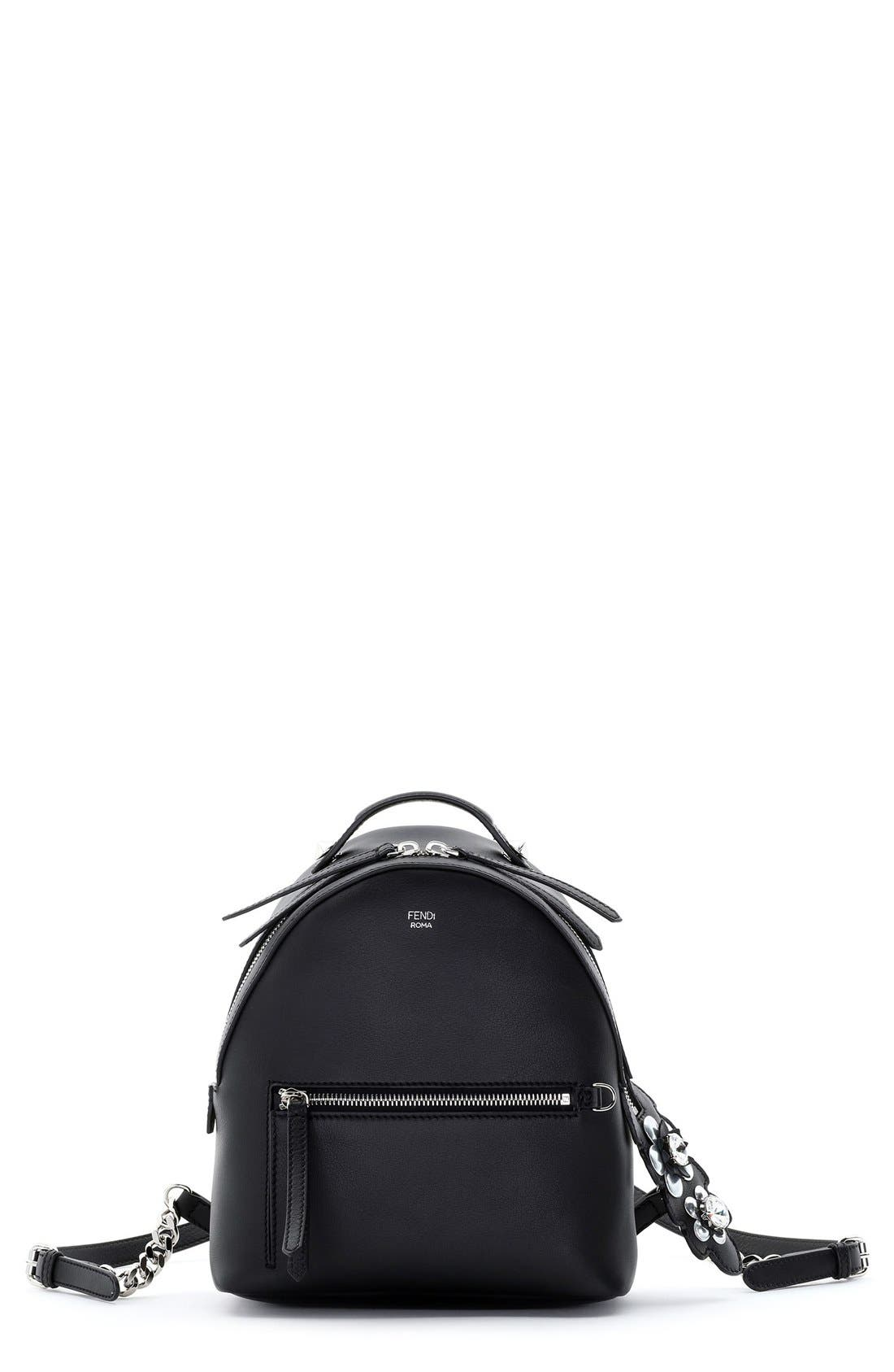 Main Image - Fendi Mini Crystal Embellished Croc Tail Backpack