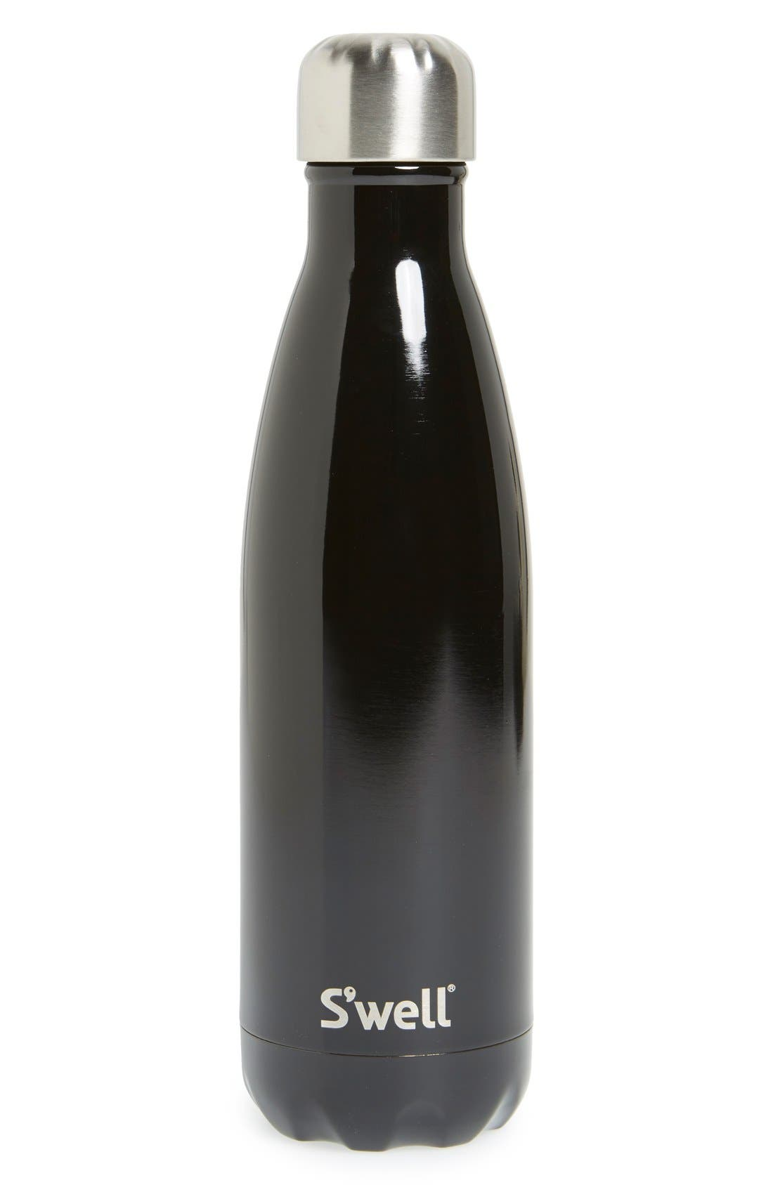 S'well 'Shimmer Collection - Midnight Black' Stainless Steel Water Bottle