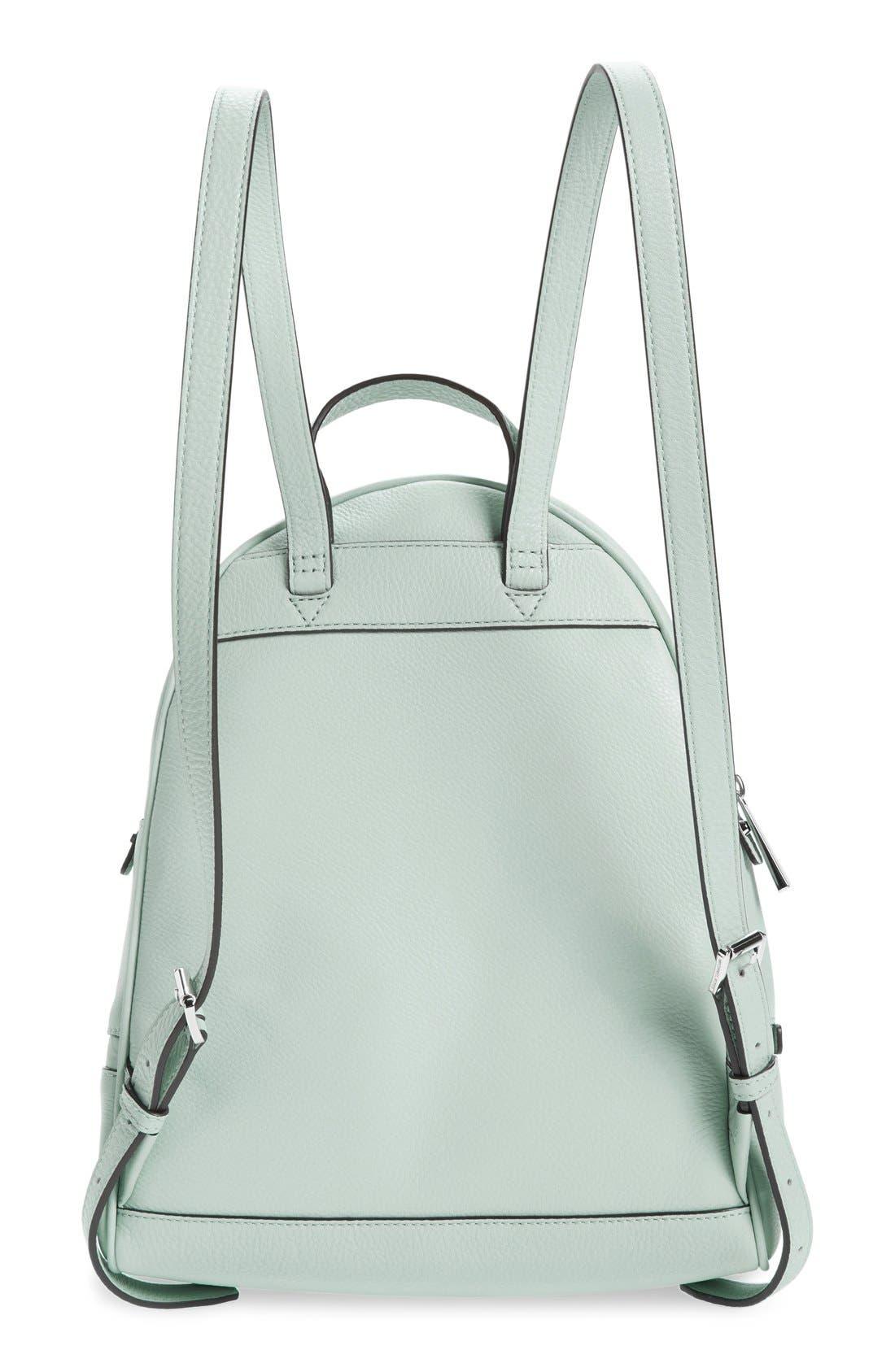 Alternate Image 3  - MICHAEL Michael Kors 'Small Rhea Zip' Leather Backpack