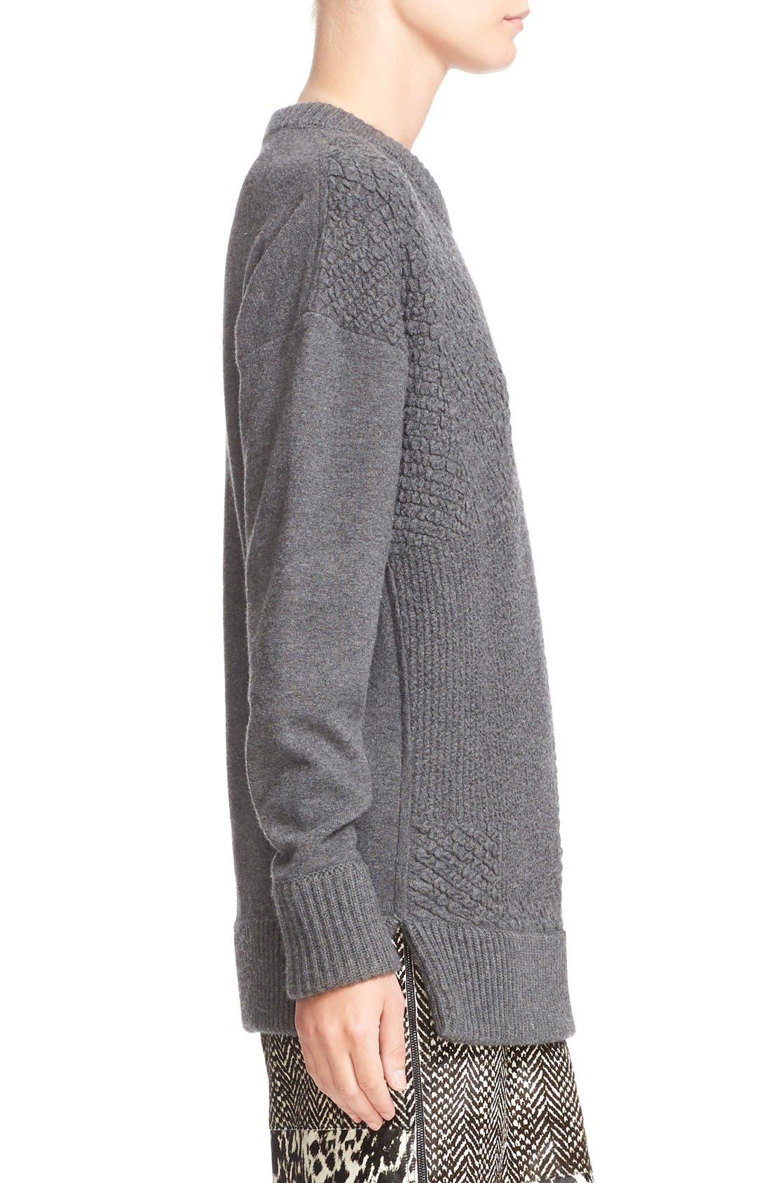 Alternate Image 6  - Jason Wu Cashmere & Wool Blend Textured Sweater