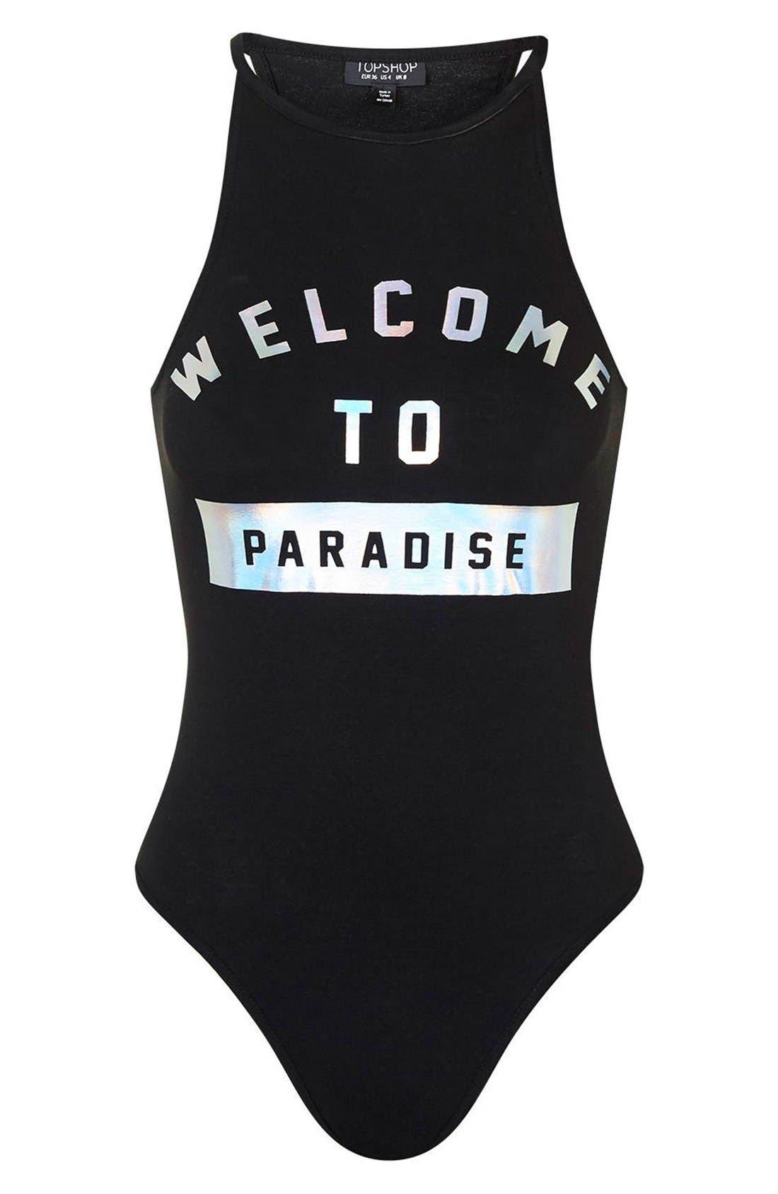 Alternate Image 5  - Topshop 'Paradise' Foil Bodysuit