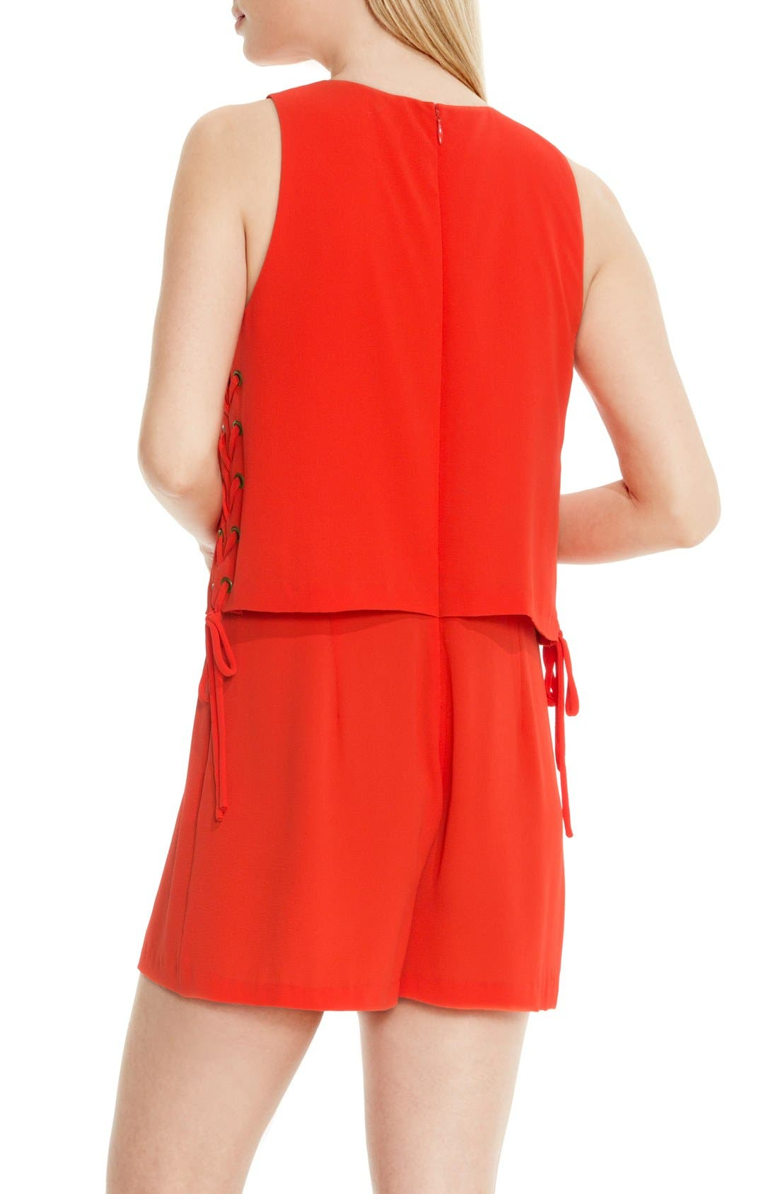Alternate Image 3  - Vince Camuto Lace-Up Detail Sleeveless Romper