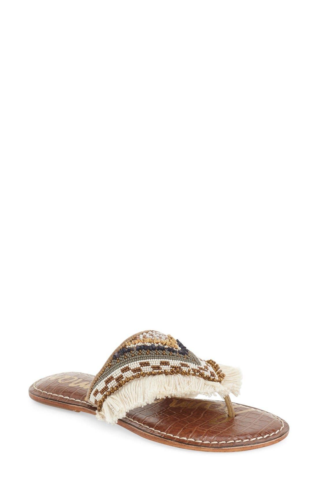 Main Image - Sam Edelman 'Kennedy' Beaded Sandal (Women)
