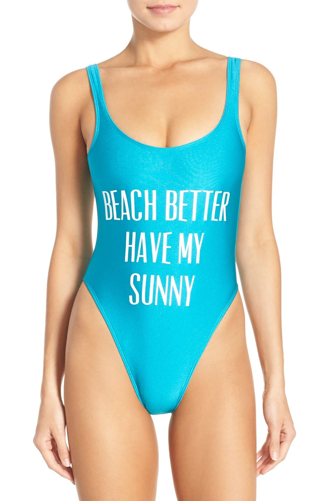 Alternate Image 1 Selected - Private Party 'Beach Better Have My Sunny' One-Piece Swimsuit
