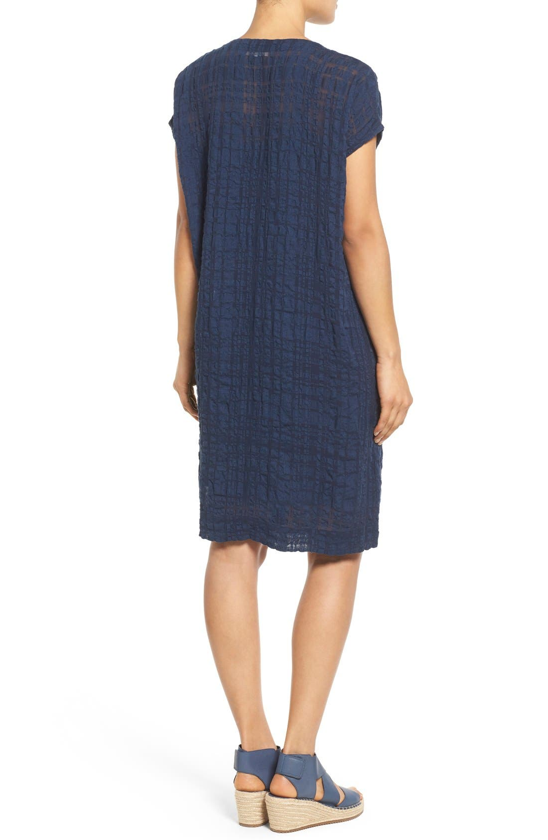 Alternate Image 2  - Eileen Fisher Button Front Boxy Dress (Regular & Petite)