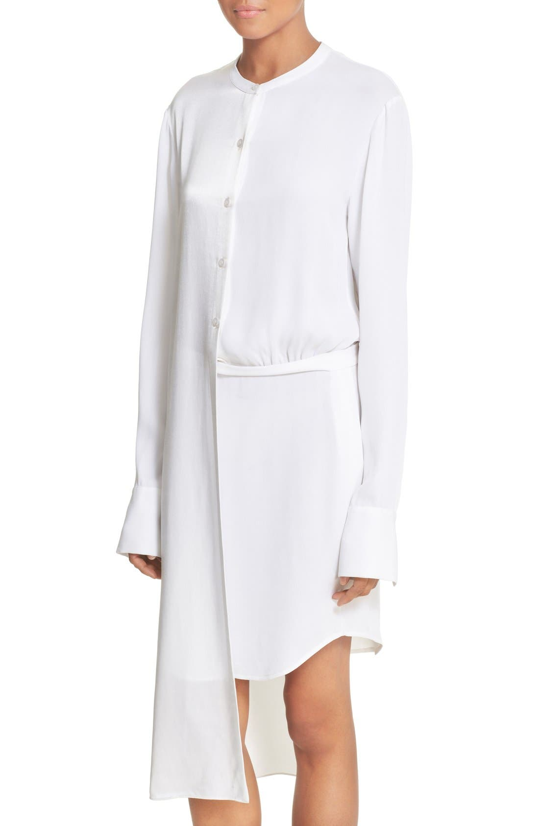 Alternate Image 4  - DKNY Panel Overlay Woven Shirtdress