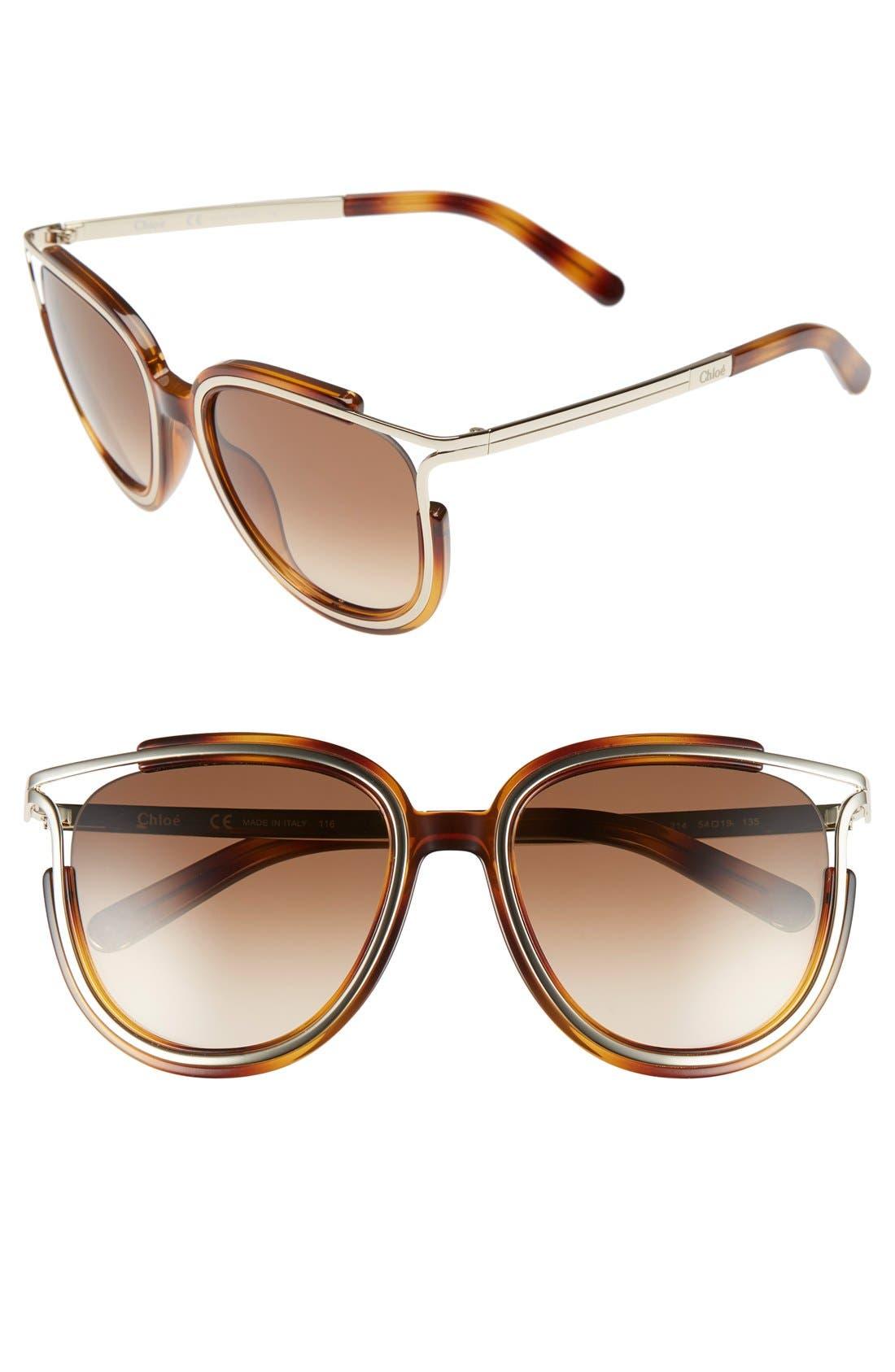 Chloé 'Jayme' 54mm Retro Sunglasses