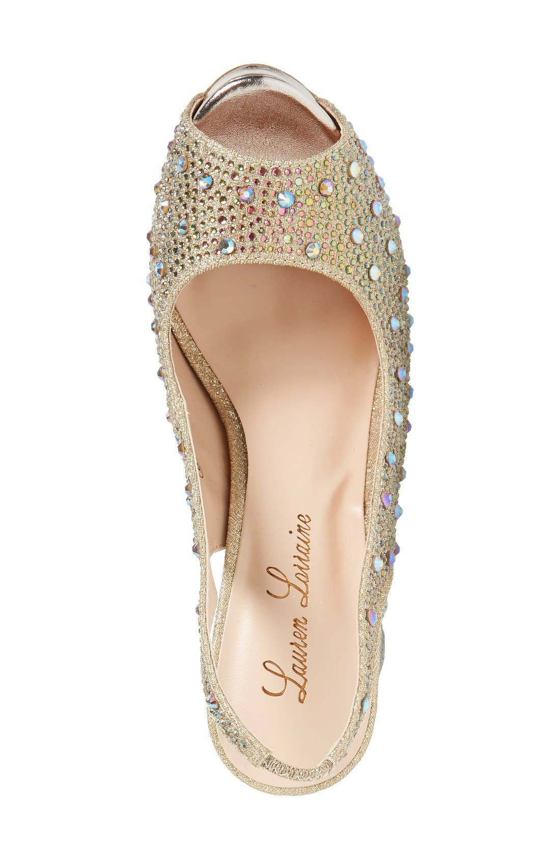 Alternate Image 3  - Lauren Lorraine 'Candy' Crystal Slingback Pump (Women)