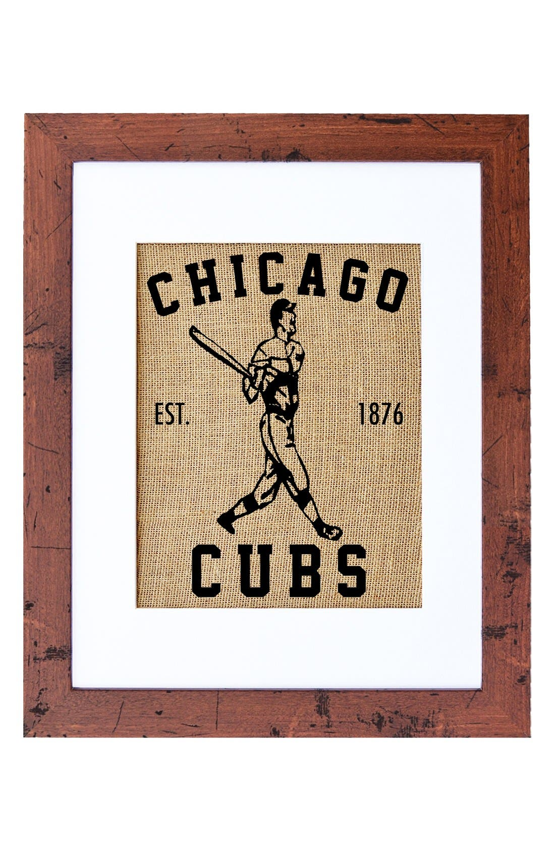 Fiber and Water 'Chicago Cubs' Wall Art