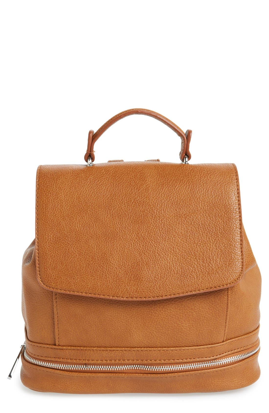 Main Image - Sole Society 'Archer' Faux Leather Backpack