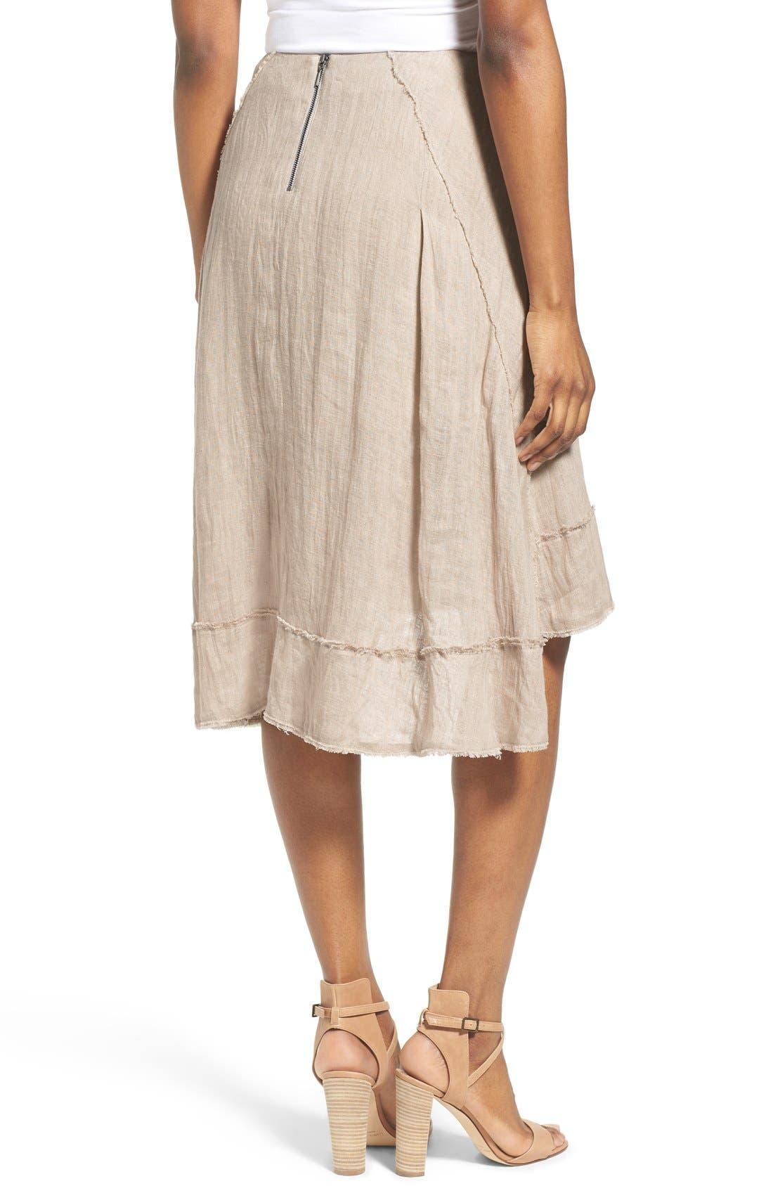 Alternate Image 2  - Elie Tahari 'Florence' High/Low Linen Skirt