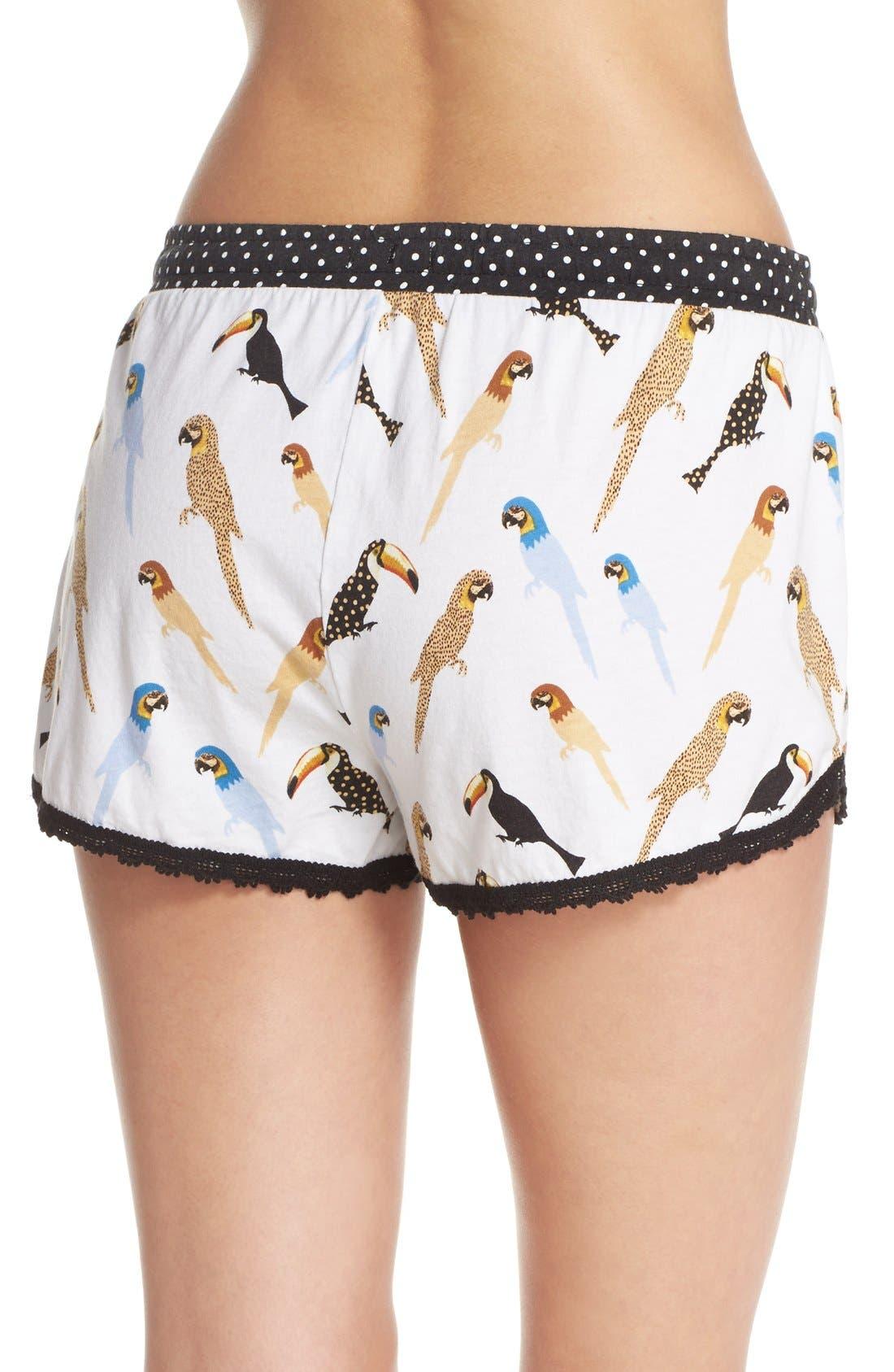 Alternate Image 2  - PJ Salvage Bird Print Pajama Shorts