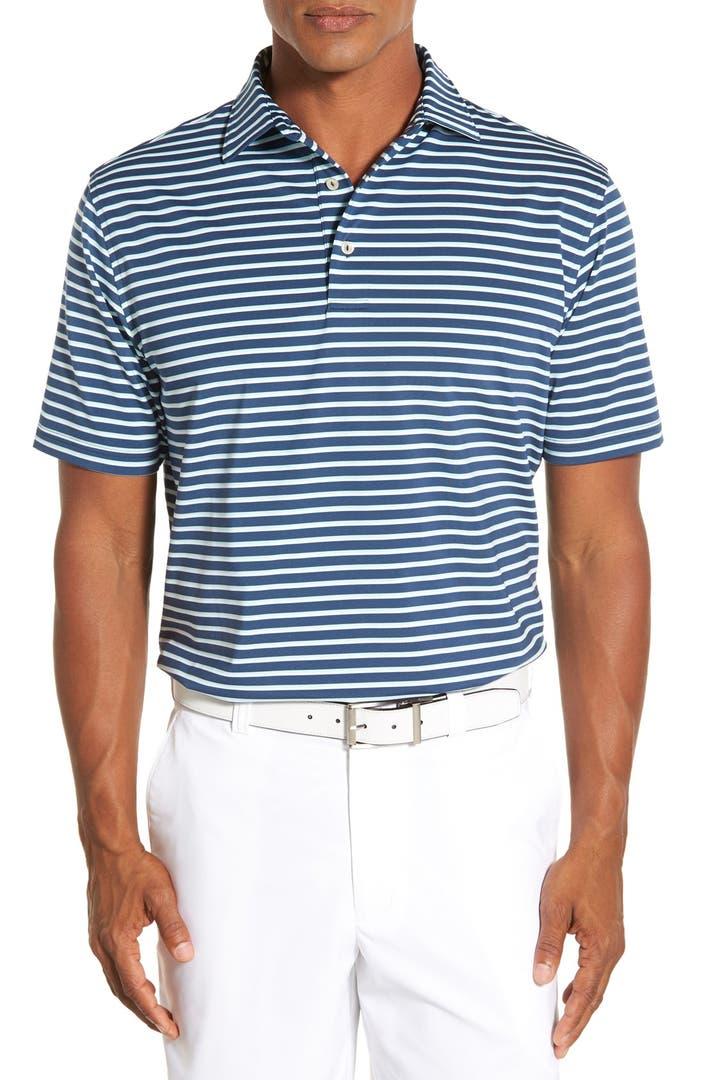 Peter millar 39 buggle 39 stripe stretch microfiber golf polo for Peter millar golf shirts