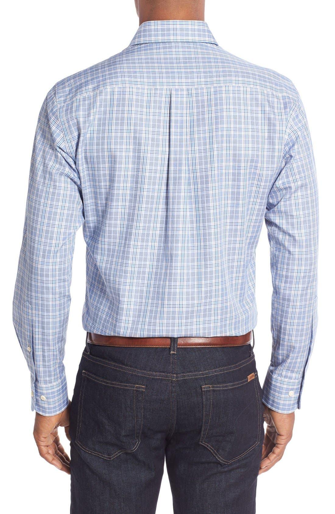 Alternate Image 2  - Peter Millar Regular Fit Glen Plaid Sport Shirt