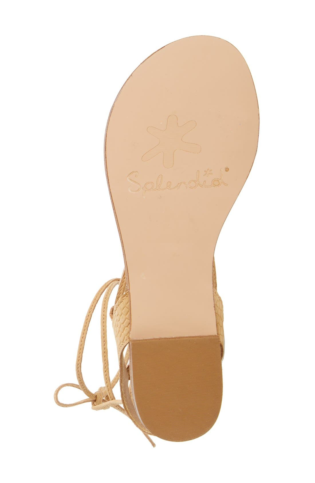 Alternate Image 4  - Splendid 'Candee' Wraparound Lace Flat Sandal (Women)