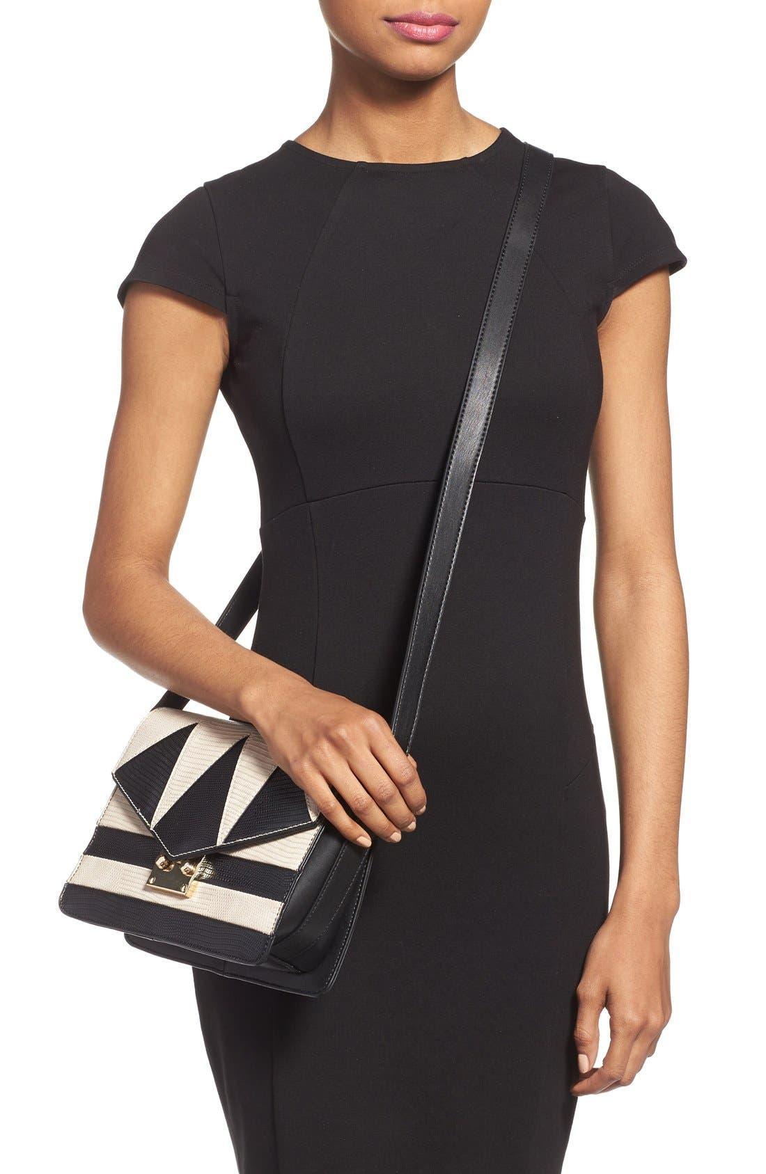 Alternate Image 2  - Topshop Embossed Crossbody Bag