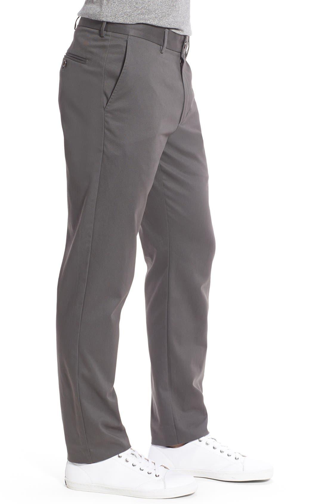 Alternate Image 3  - Nordstrom Men's Shop Smartcare™ Slim Leg Twill Pants