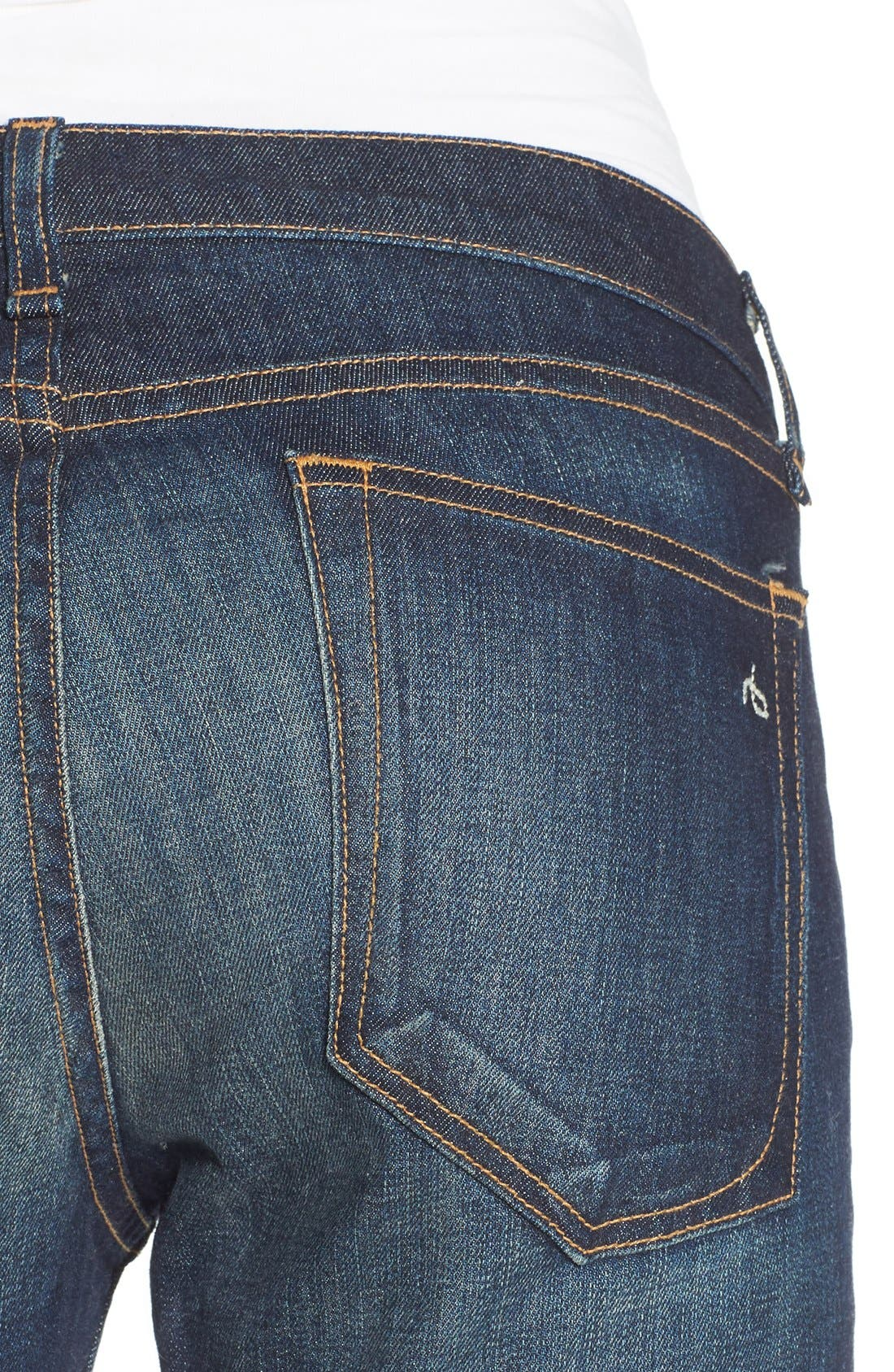 Alternate Image 5  - rag & bone/JEAN 'The Dre' Slim Fit Boyfriend Jeans (Yesler)