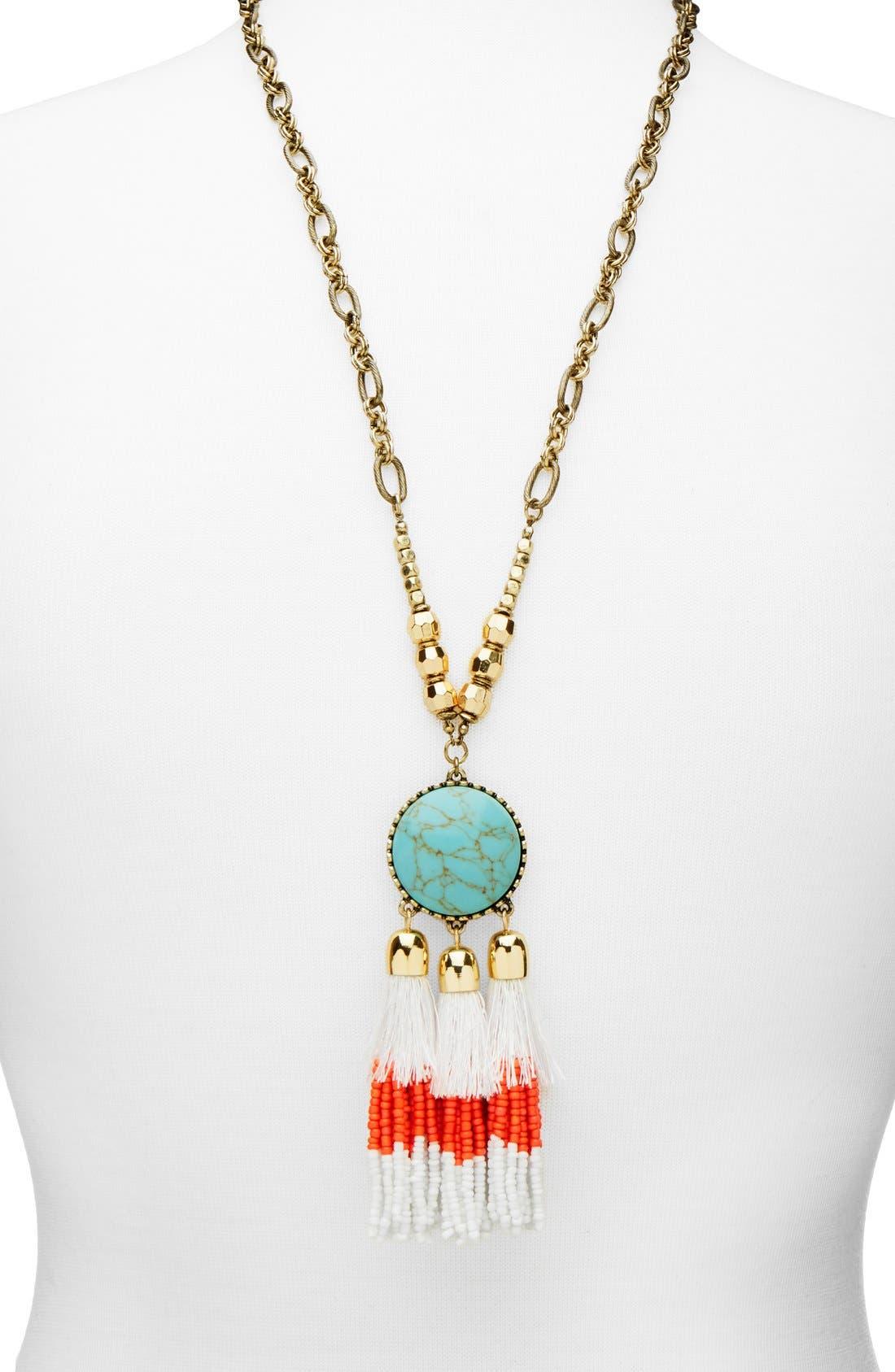 Alternate Image 1 Selected - BaubleBar 'Rhodes' Tassel Pendant Necklace