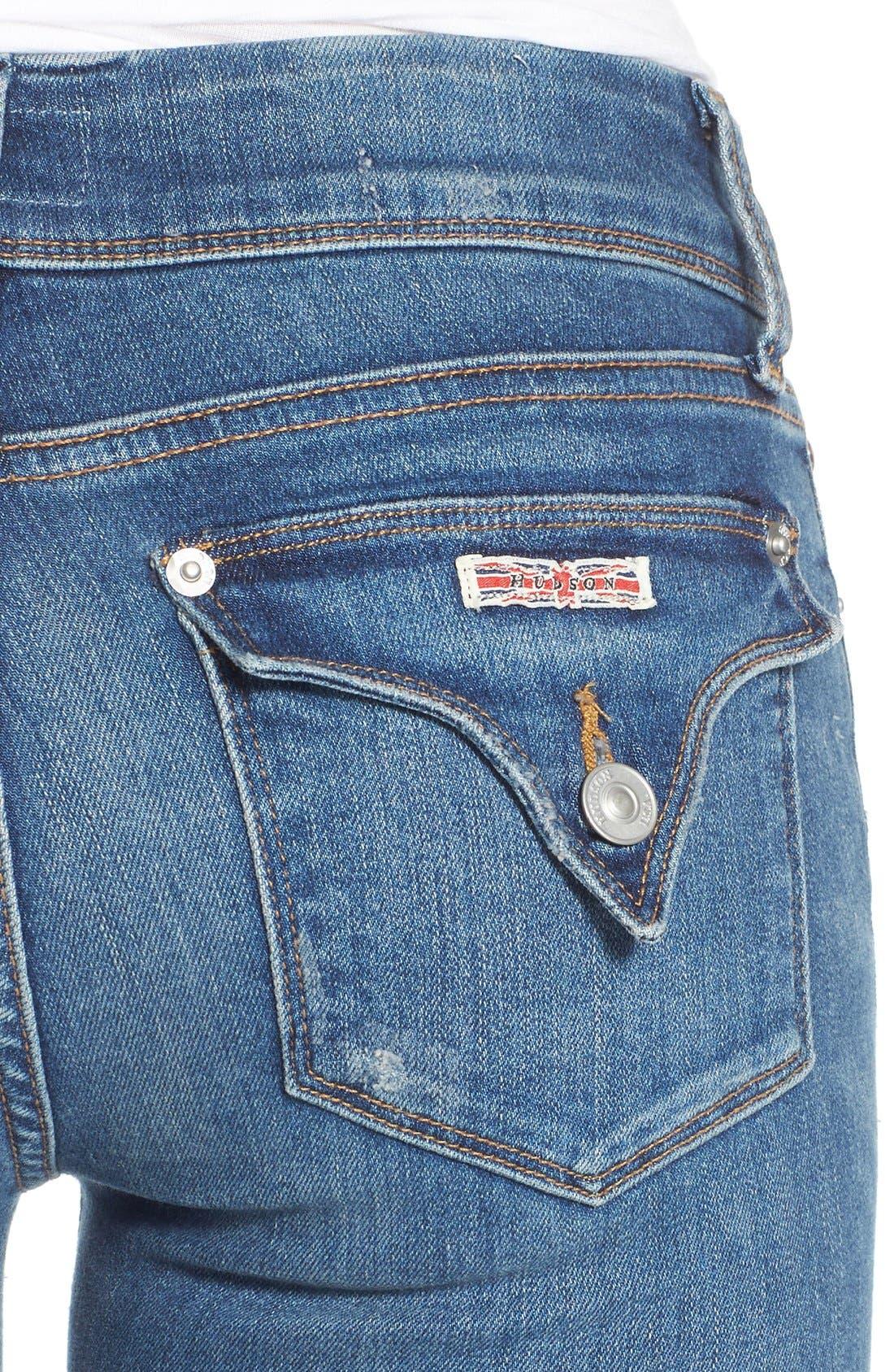 Alternate Image 4  - Hudson Jeans 'Ginny' Rolled Crop Jeans (Point Break)