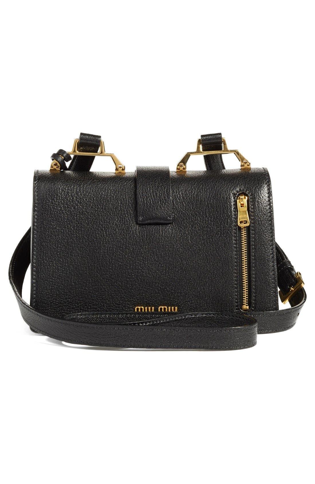 Alternate Image 3  - Miu Miu 'Small Madras' Goatskin Leather Shoulder Bag