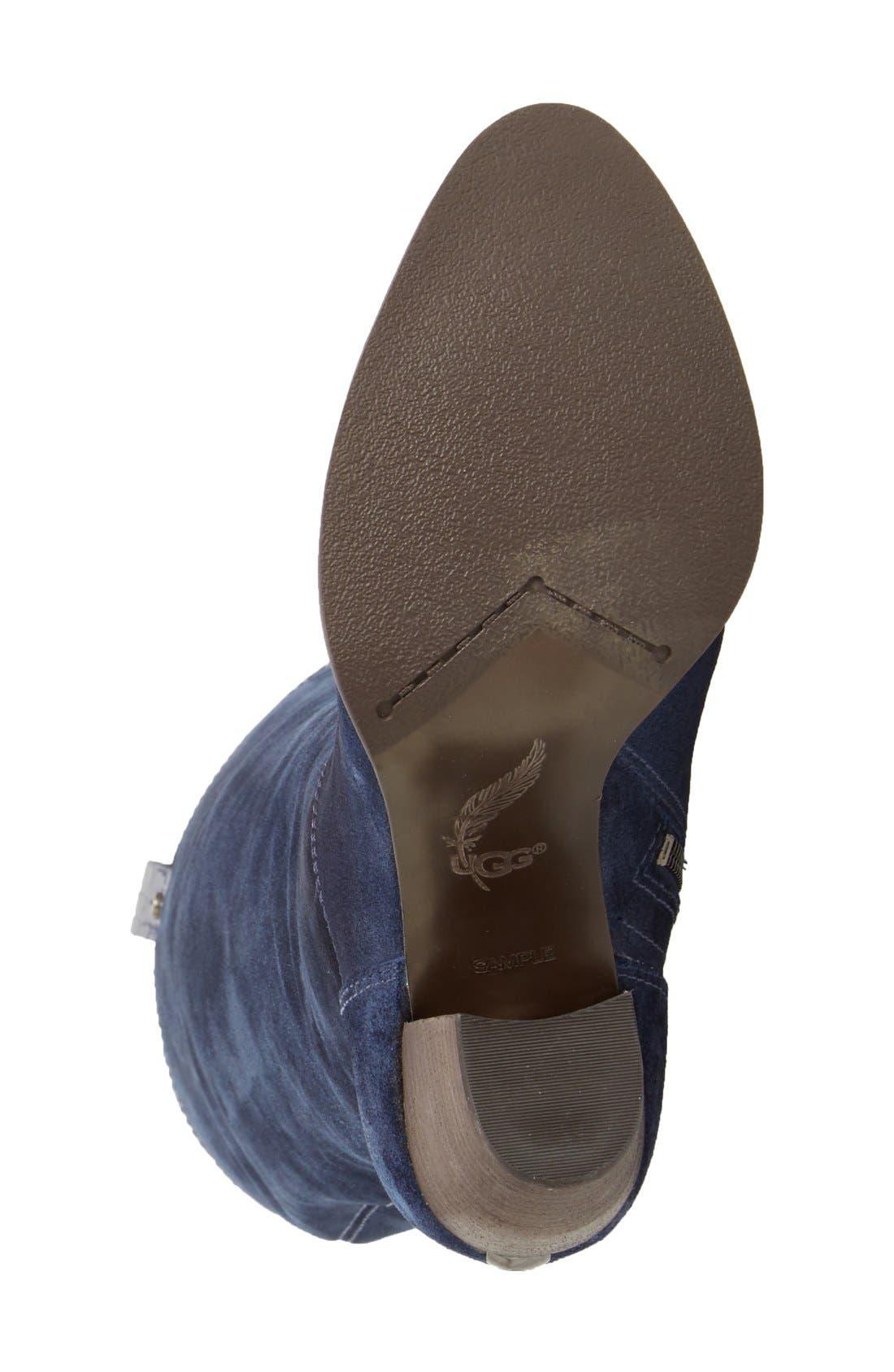 Alternate Image 4  - UGG® 'Ava Croco' Tall Suede Boot (Women)