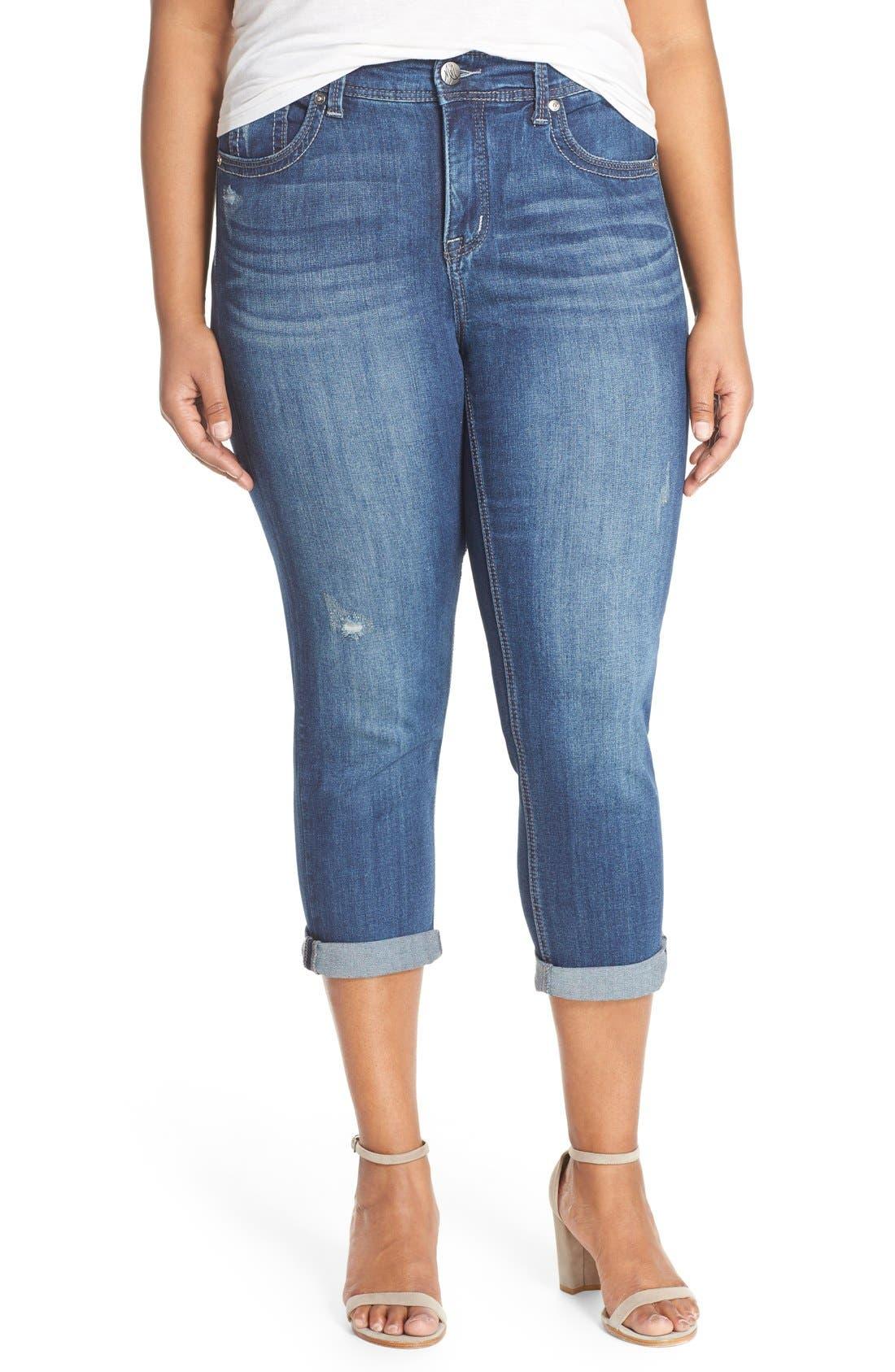 MELISSA MCCARTHY SEVEN7 Stretch Crop Jeans