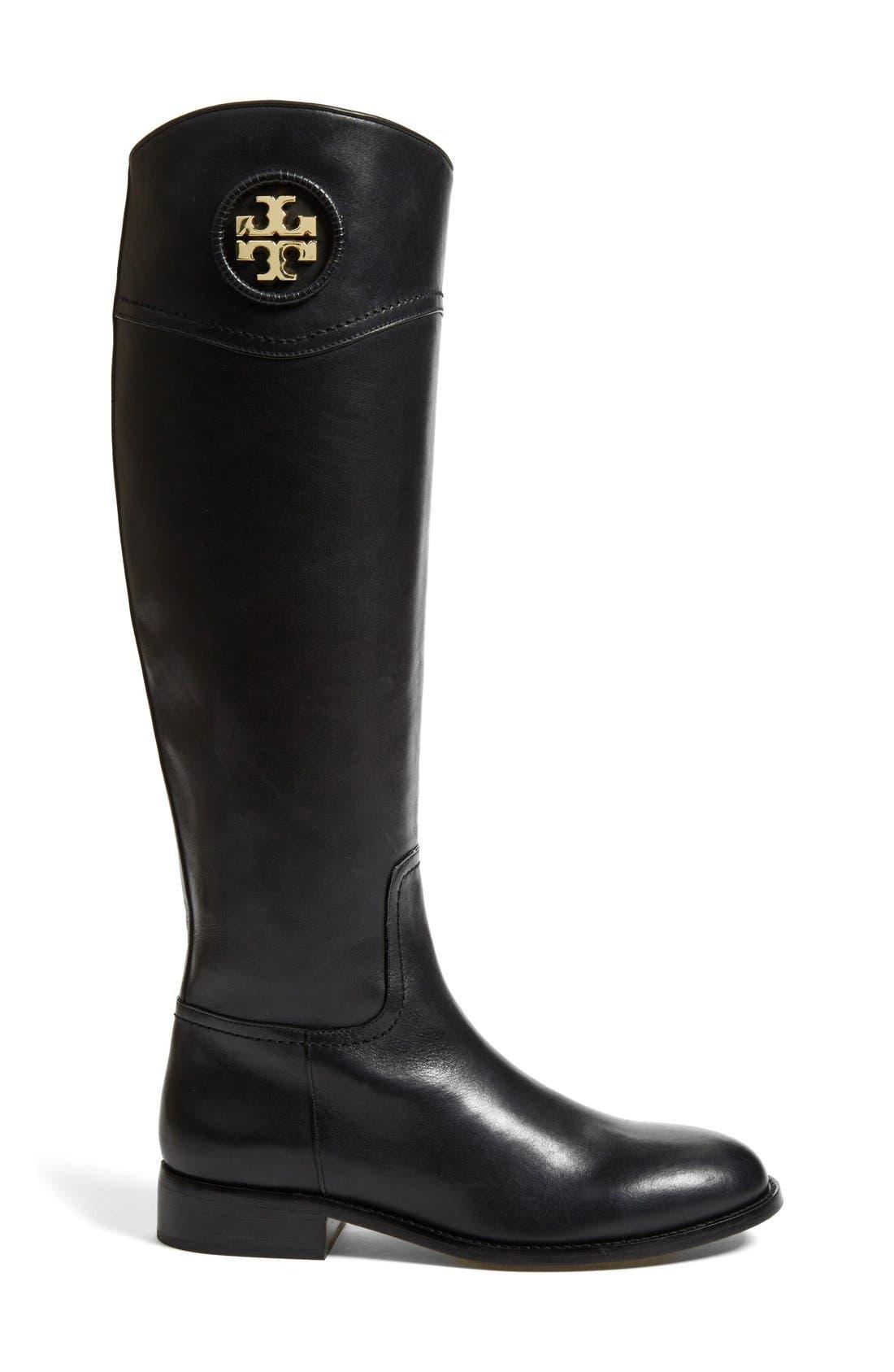 Alternate Image 4  - Tory Burch 'Ashlynn' Wide Calf Riding Boot (Women)