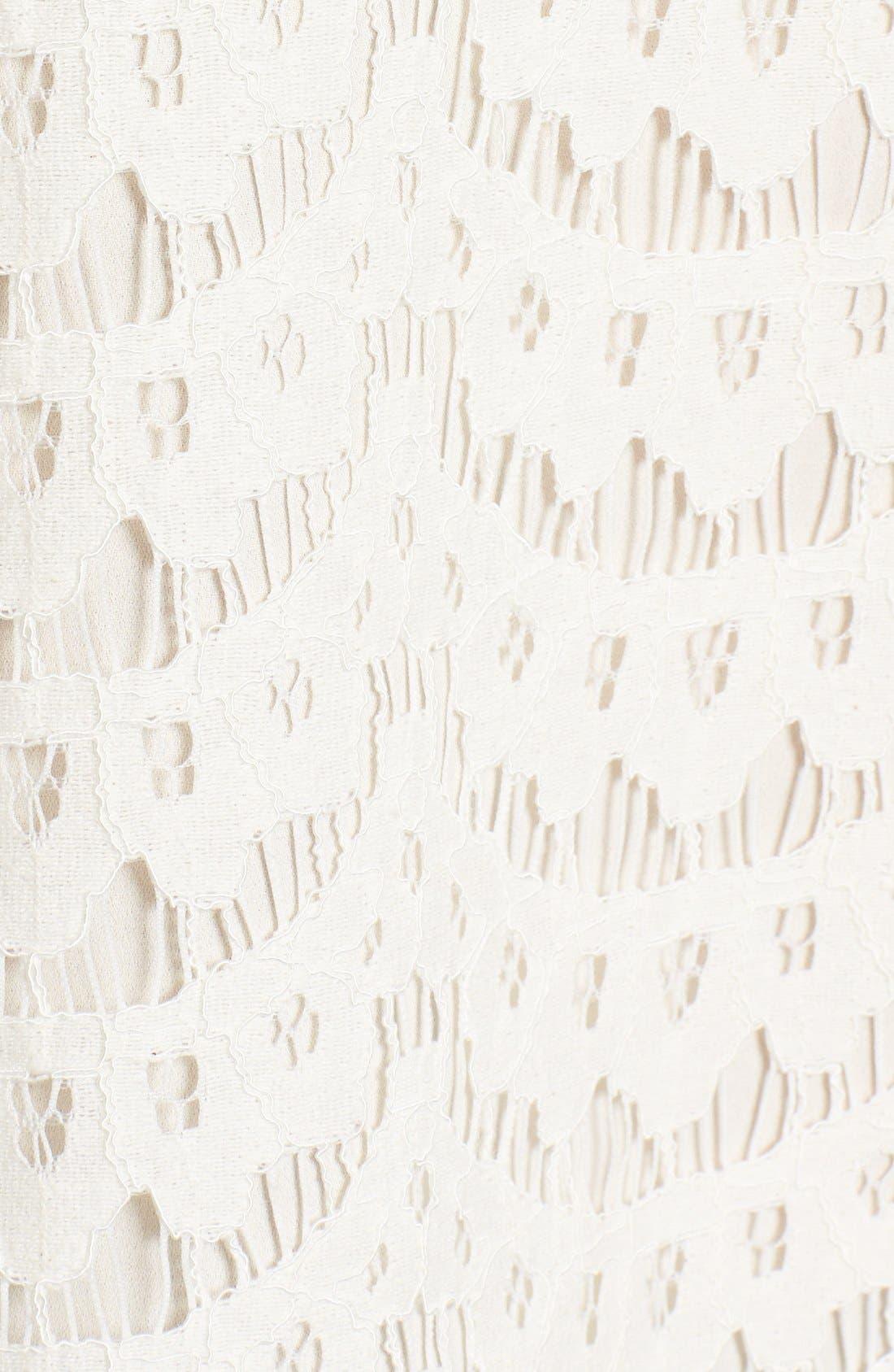 Alternate Image 5  - Vince Camuto Tie Neck Lace Shell (Regular & Petite)
