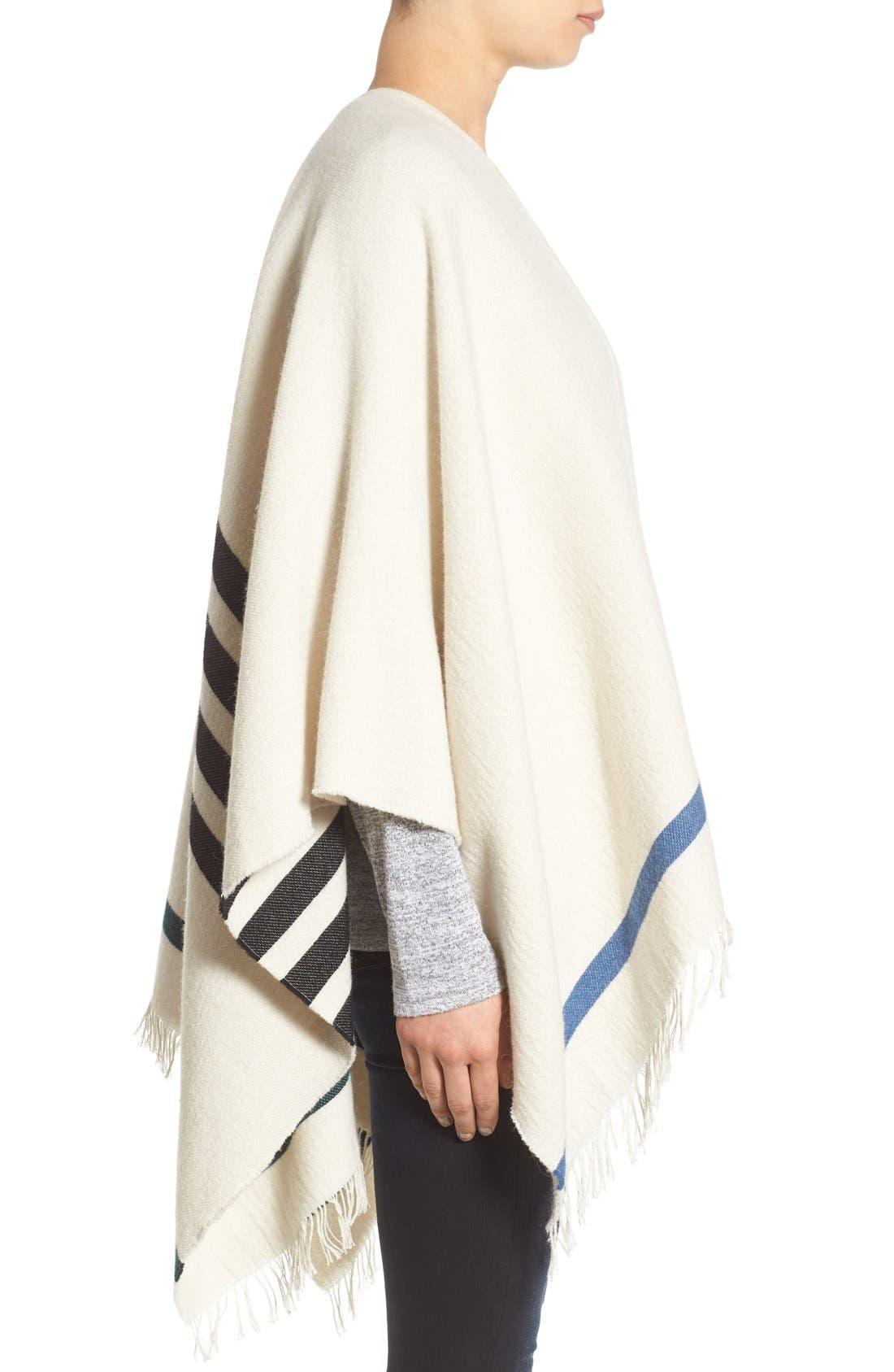 Alternate Image 3  - rag & bone 'Ines' Stripe Wool Blend Poncho