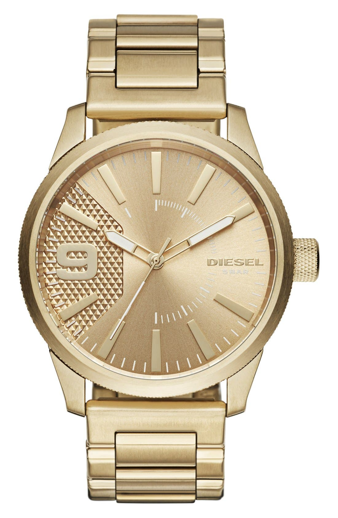 DIESEL® The Rasp Bracelet Watch, 46mm