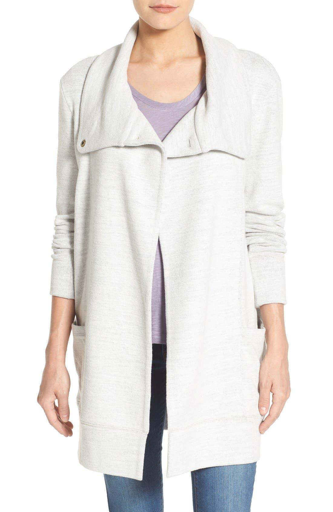 Caslon® Convertible Collar Sweater Coat (Regular & Petite)