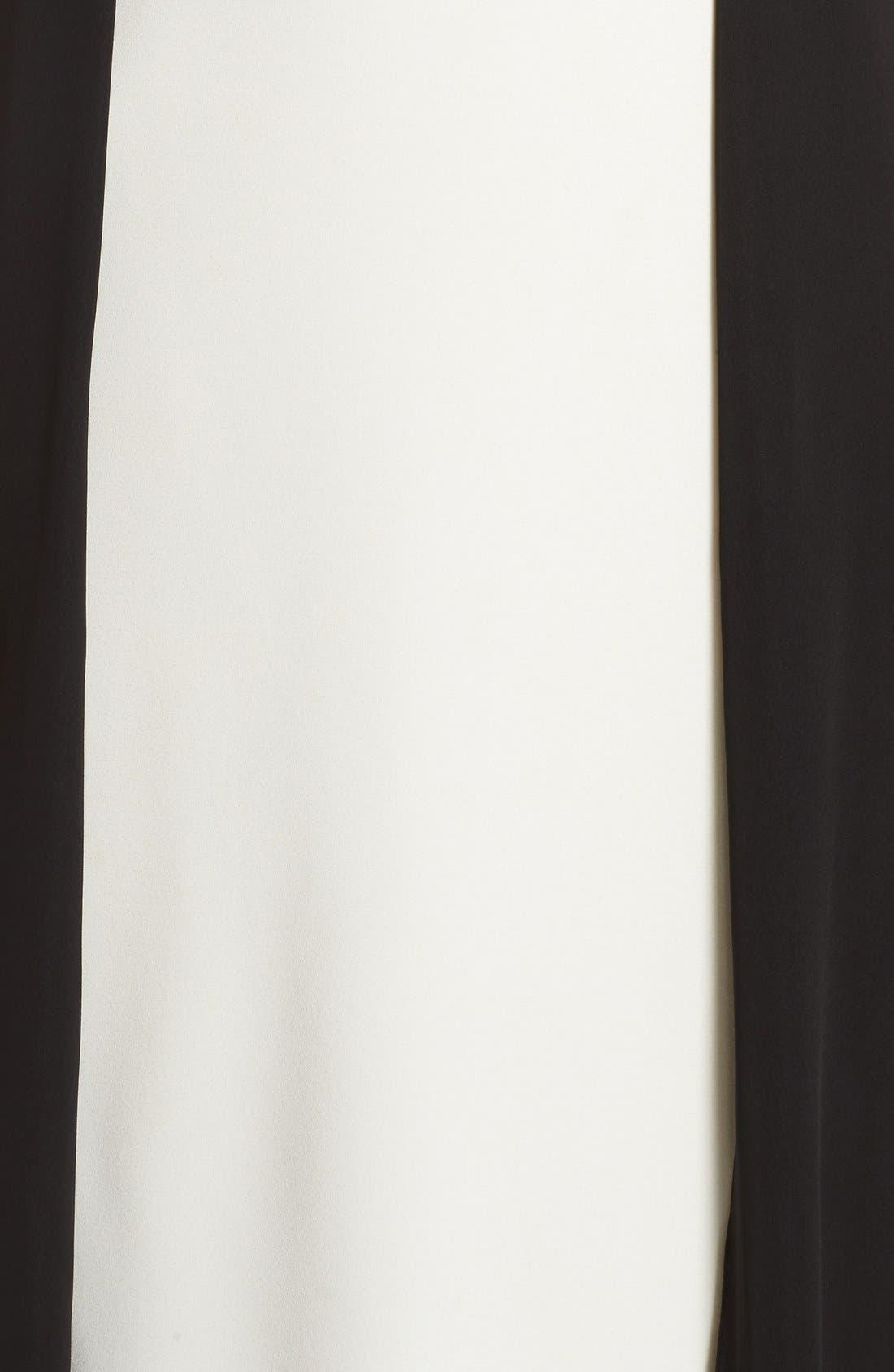 Alternate Image 5  - Halston Heritage Colorblock Crepe Gown