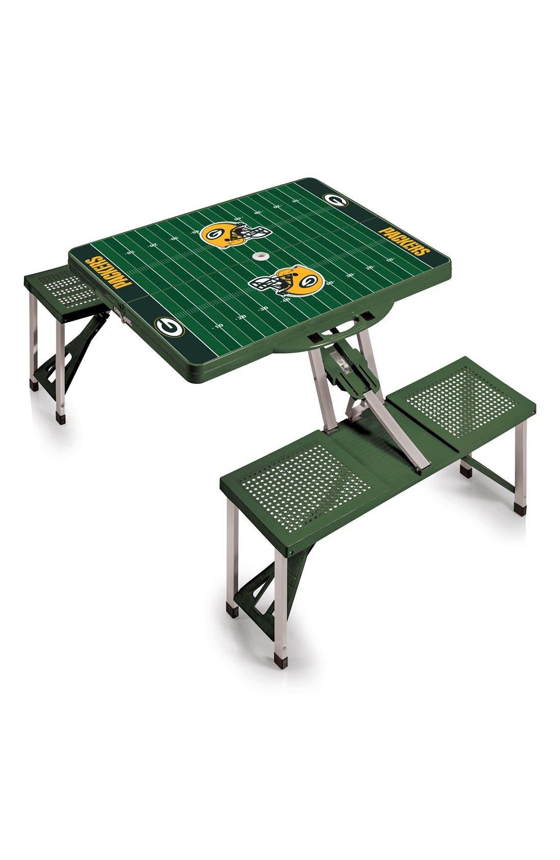 Picnic Time Team Football Field Design Portable Picnic Table