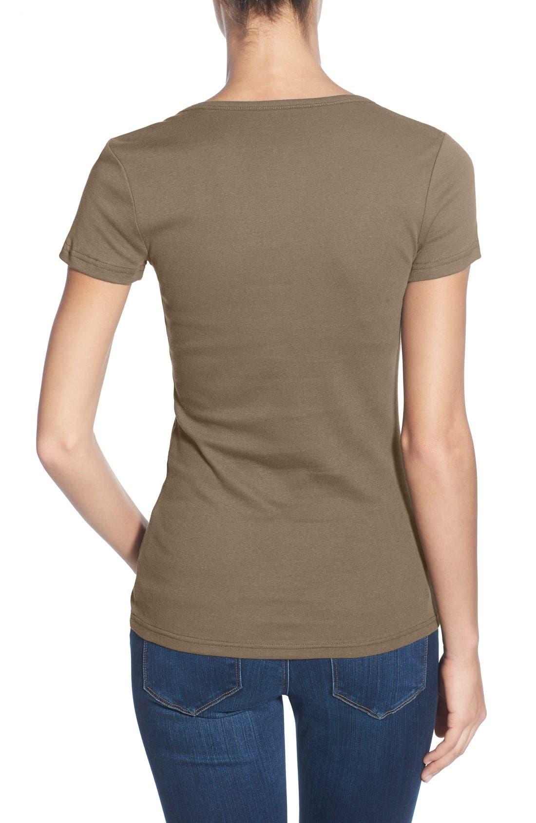 Alternate Image 6  - Caslon® Short Sleeve Scoop Neck Tee (Regular & Petite)