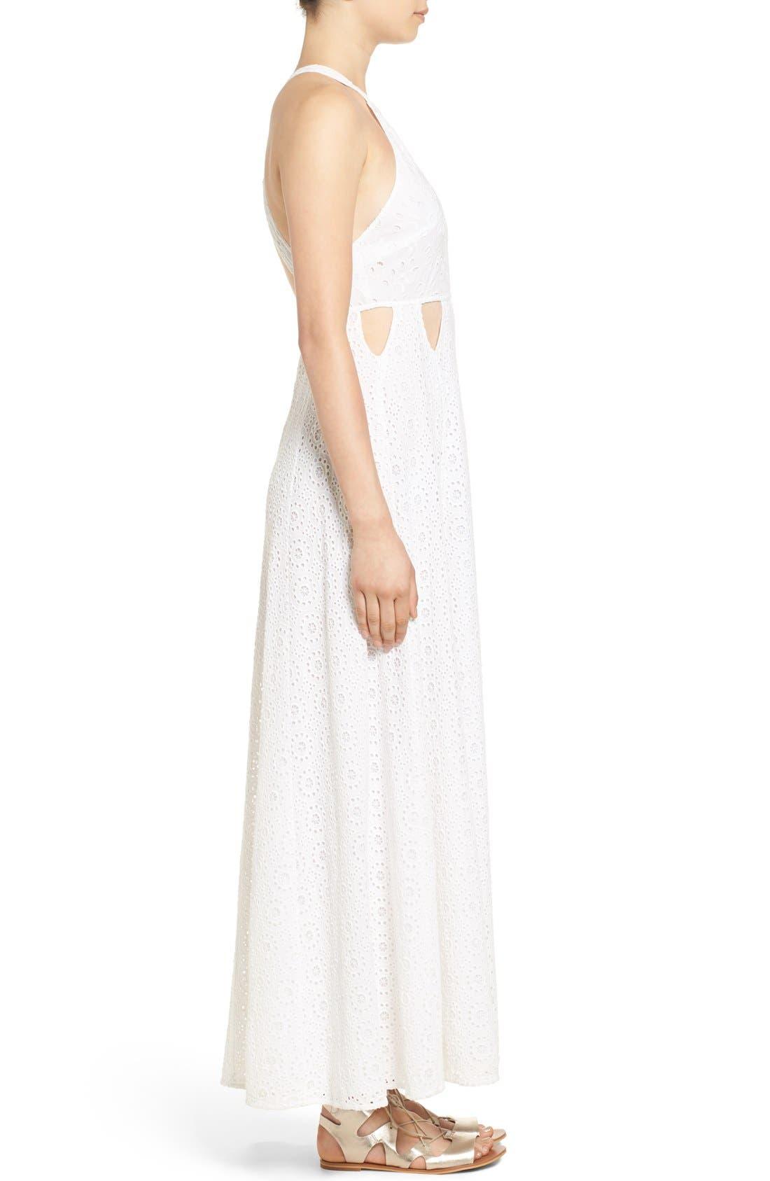 Alternate Image 3  - Tularosa 'Duchess' Cotton Lace Maxi Dress