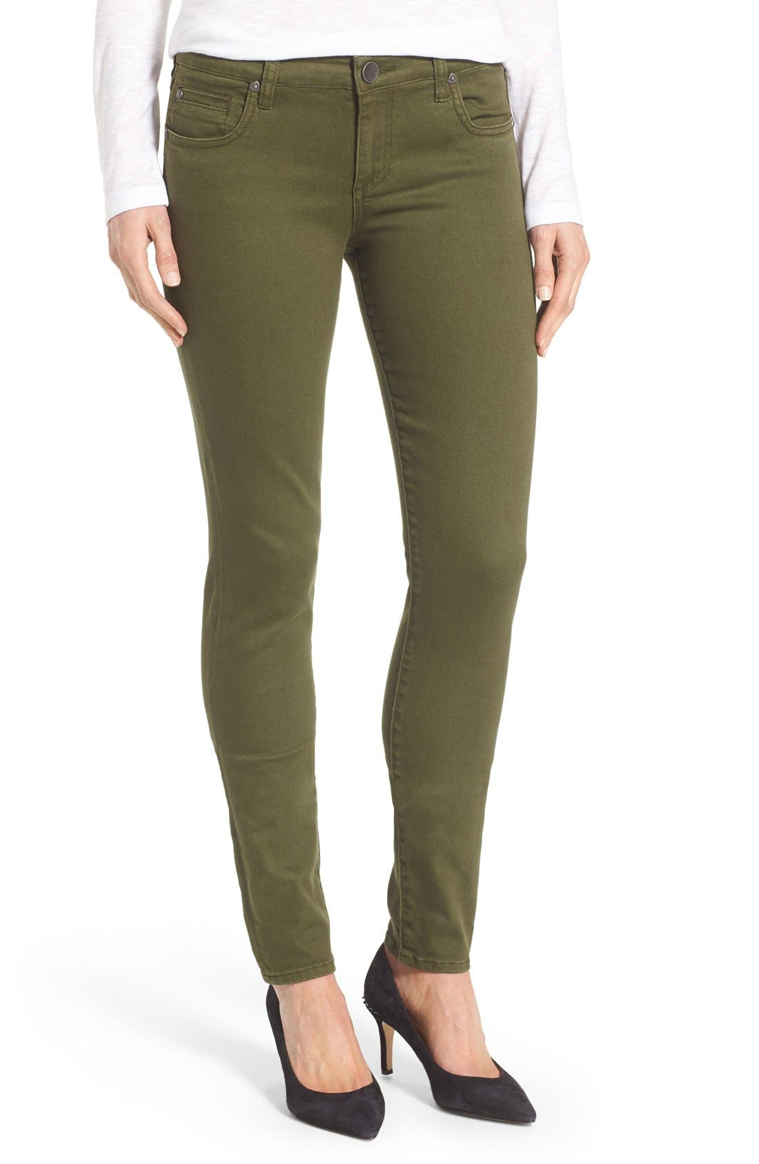 Alternate Image 1 Selected - KUT from the Kloth Diana Colored Denim Skinny Jeans