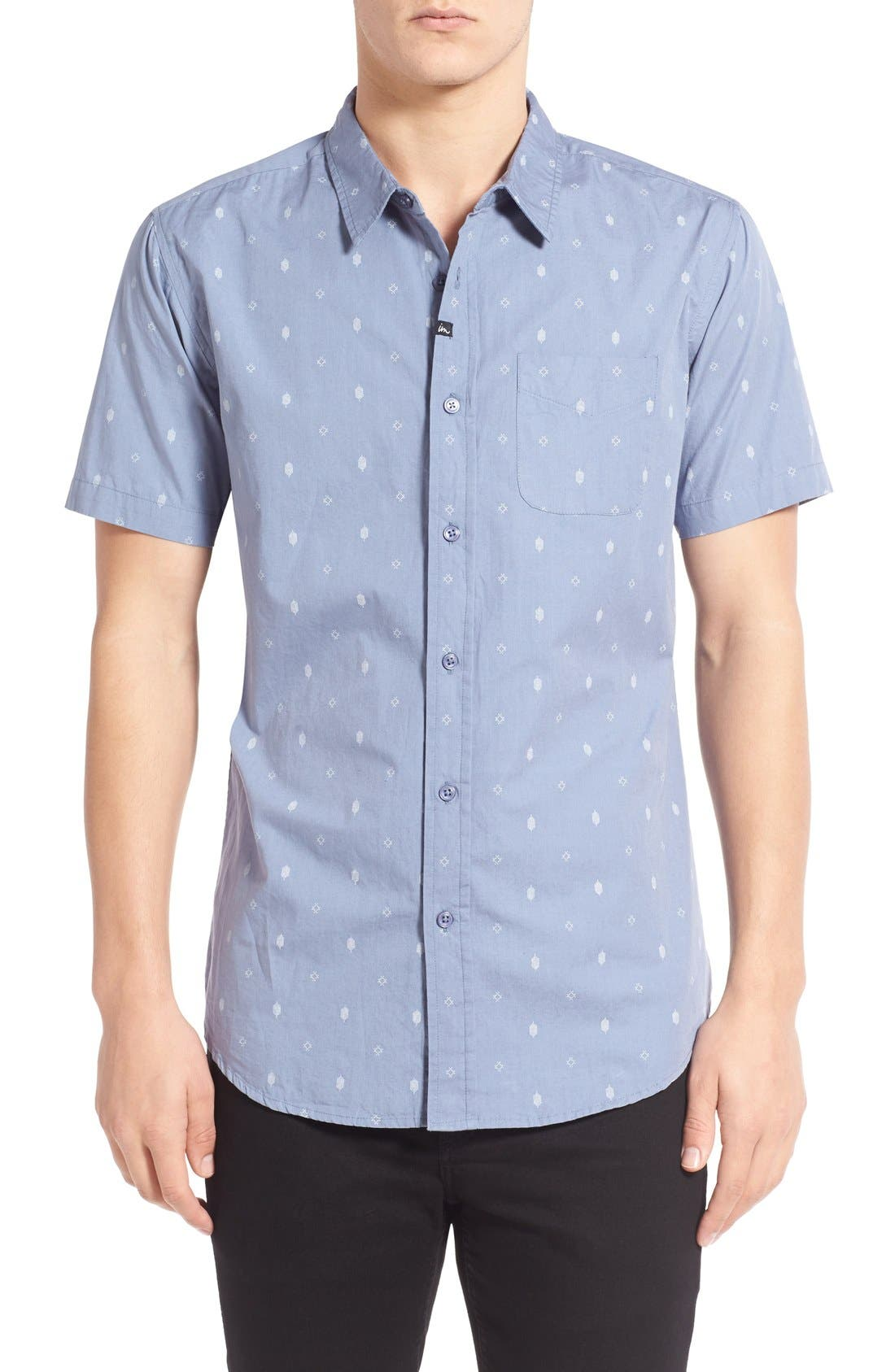 IMPERIAL MOTION 'Crosby' Print Short Sleeve Woven Shirt