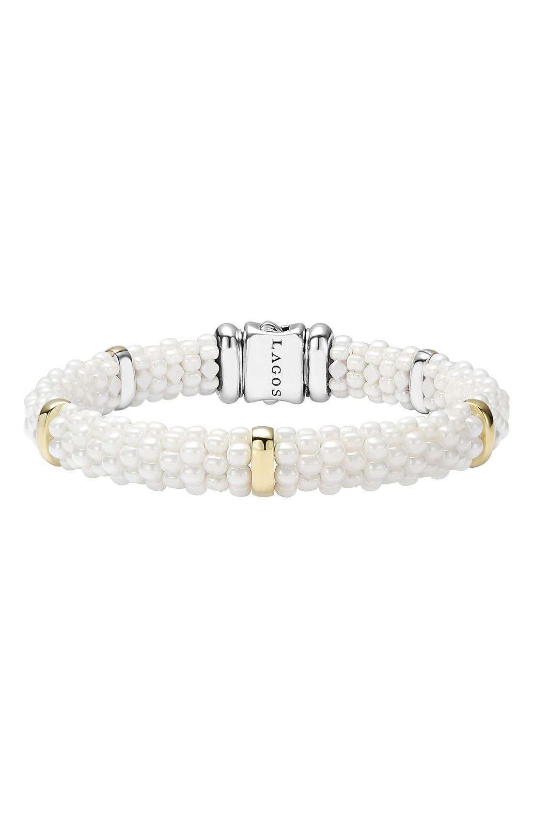 LAGOS 'White Caviar' Station Bracelet